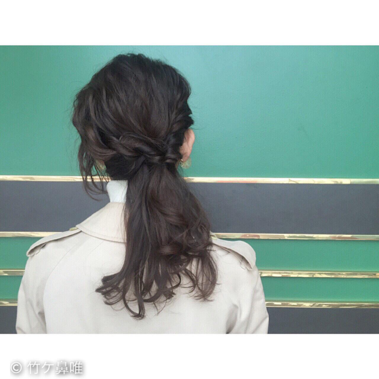 黒髪 ガーリー ショート 簡単ヘアアレンジヘアスタイルや髪型の写真・画像
