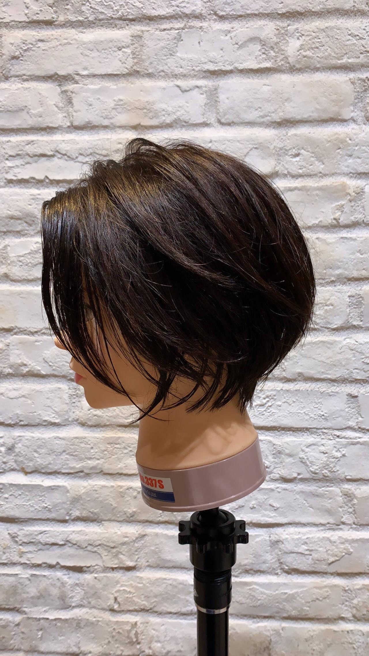 ショートボブ ショート ショートヘア 黒髪ヘアスタイルや髪型の写真・画像