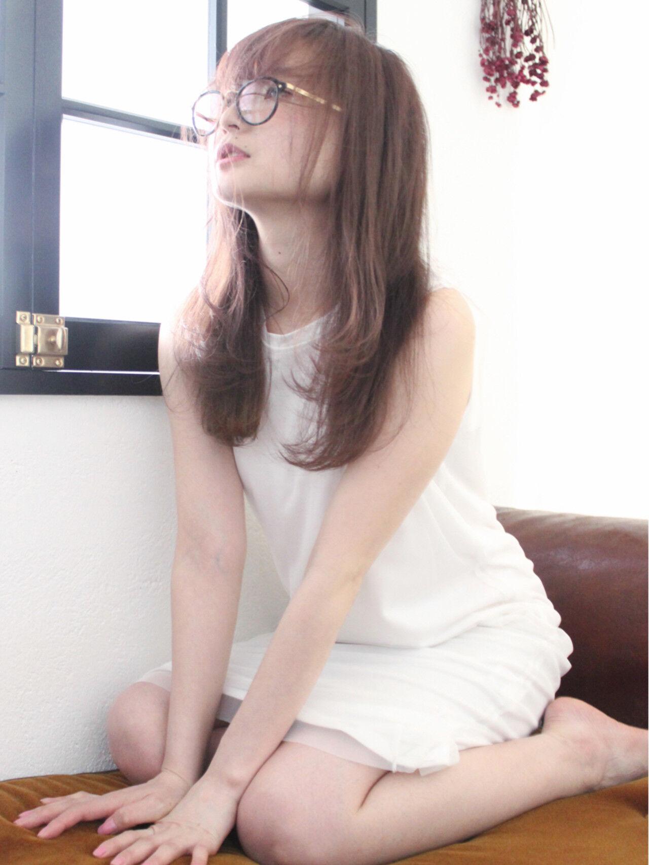 透明感 フェミニン ロング ゆるふわヘアスタイルや髪型の写真・画像