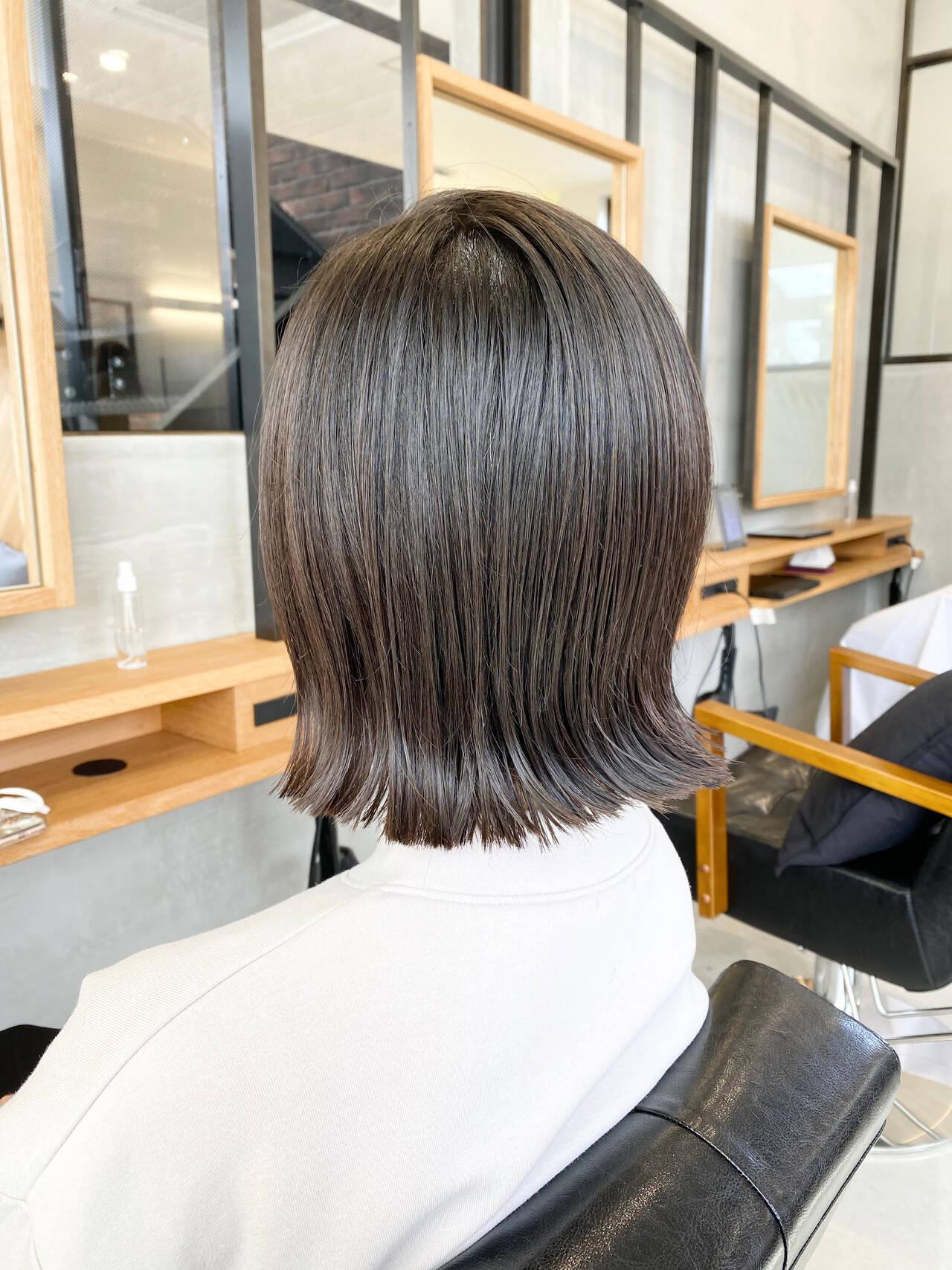 外ハネ ボブ ボブヘアー ナチュラルヘアスタイルや髪型の写真・画像