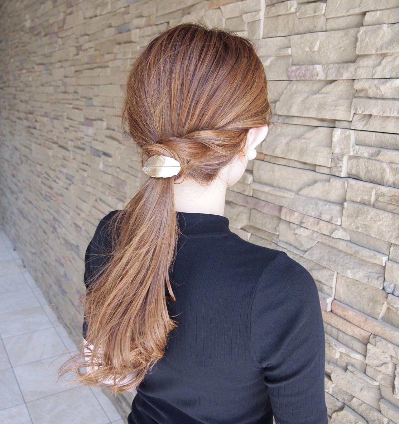 ヘアアレンジ ナチュラル デート リラックスヘアスタイルや髪型の写真・画像