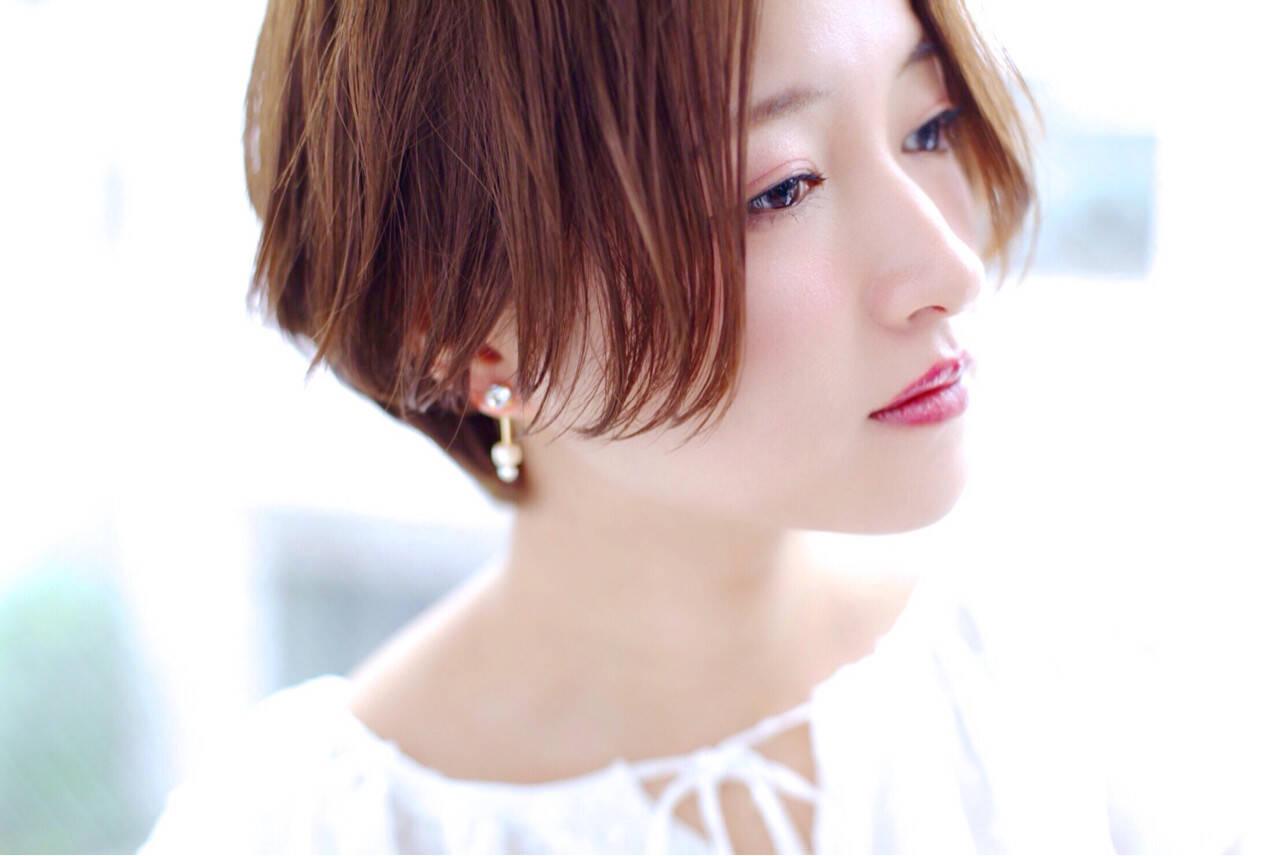 大人かわいい ショート ナチュラル かわいいヘアスタイルや髪型の写真・画像