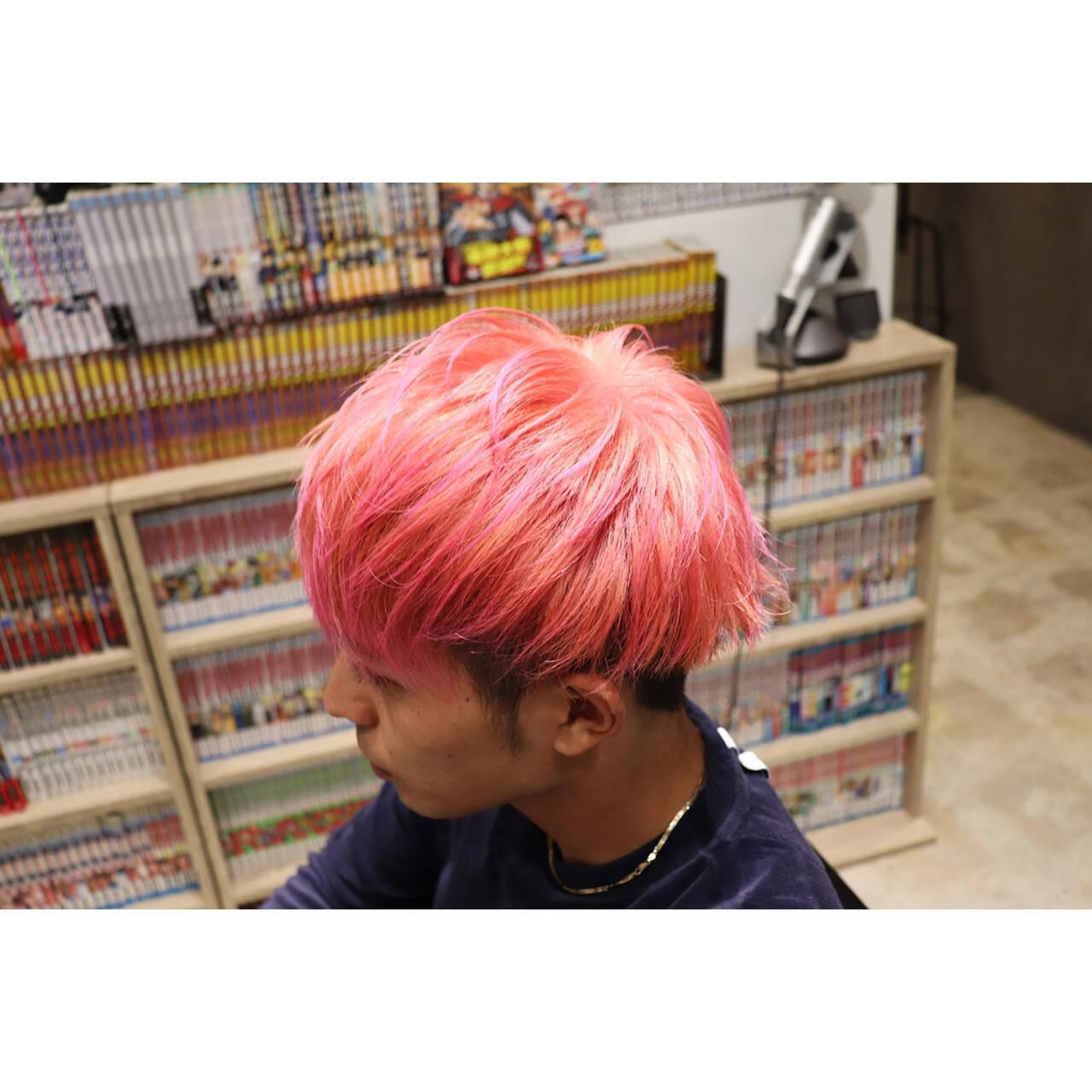 ピンク ショート メンズヘア メンズヘアスタイルや髪型の写真・画像