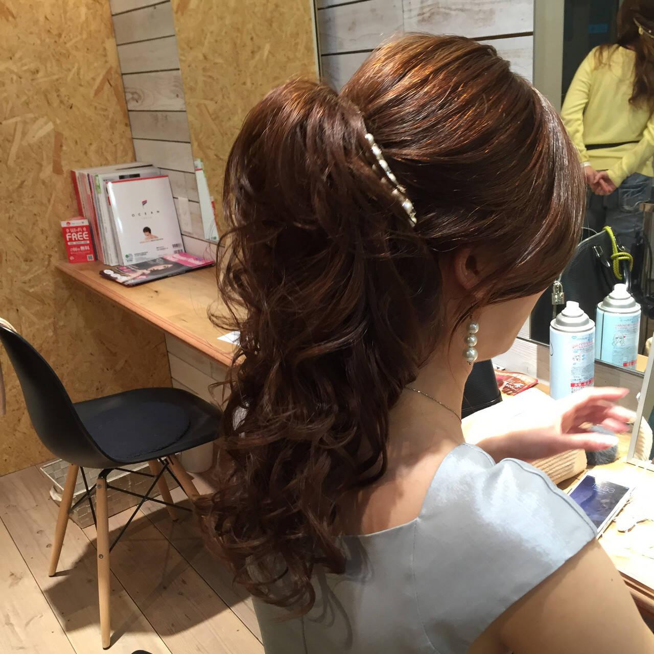 エレガント ニュアンス セミロング ヘアアレンジヘアスタイルや髪型の写真・画像