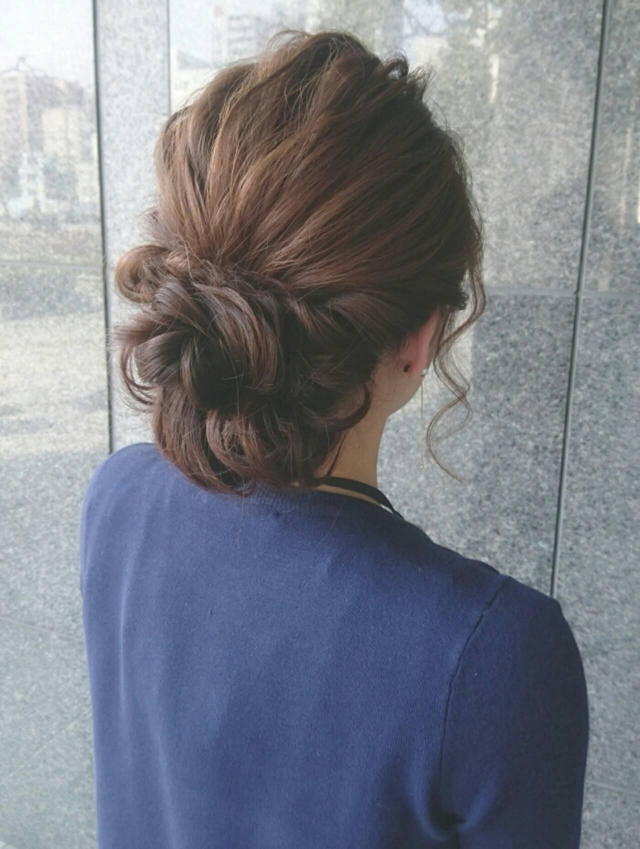 ゆるふわ ショート ヘアアレンジ 簡単ヘアアレンジヘアスタイルや髪型の写真・画像