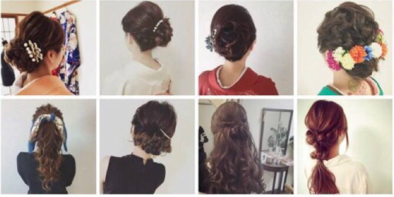 結婚式 女子会 大人かわいい 上品ヘアスタイルや髪型の写真・画像