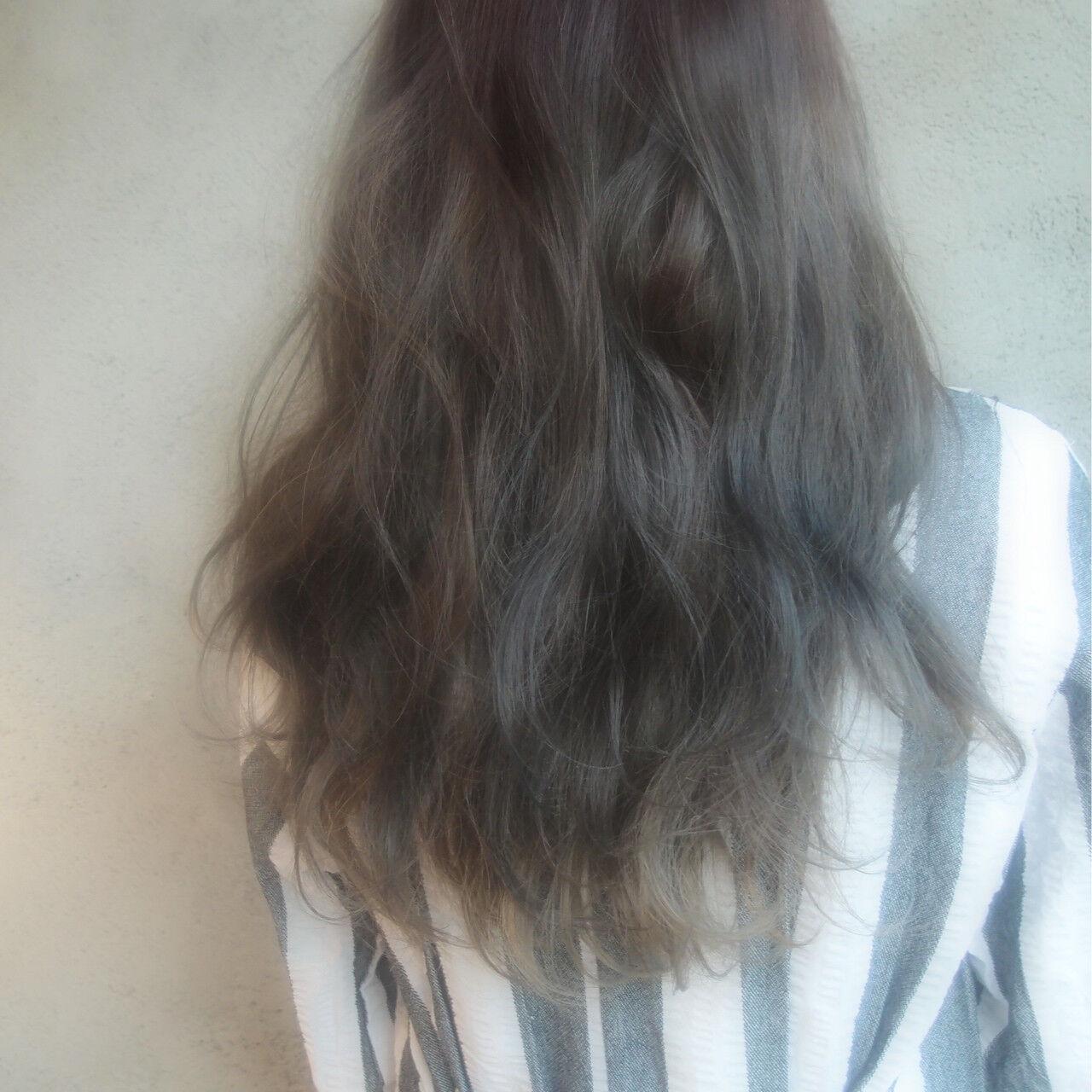 ハイライト 外国人風 ゆるふわ ダブルカラーヘアスタイルや髪型の写真・画像
