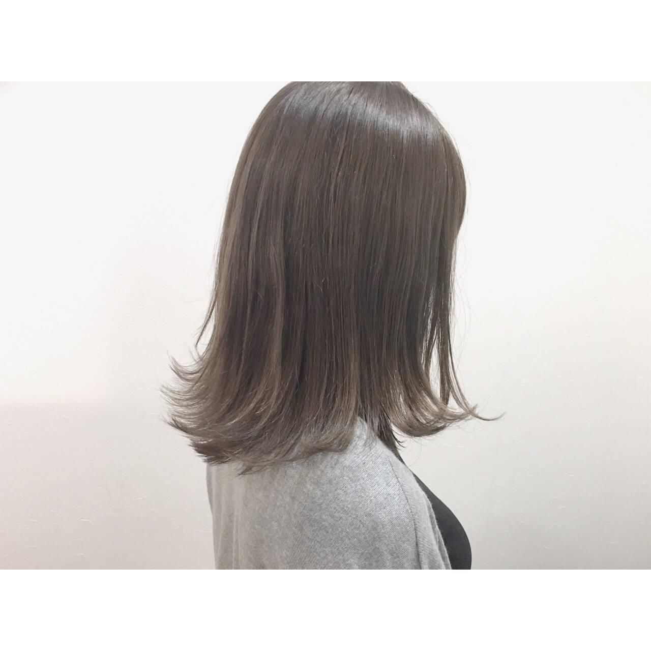 ウェットヘア ハイライト ボブ ナチュラルヘアスタイルや髪型の写真・画像