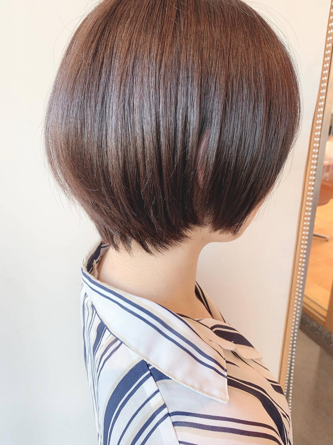 ナチュラル ショートヘア ベリーショート 黒髪ショートヘアスタイルや髪型の写真・画像