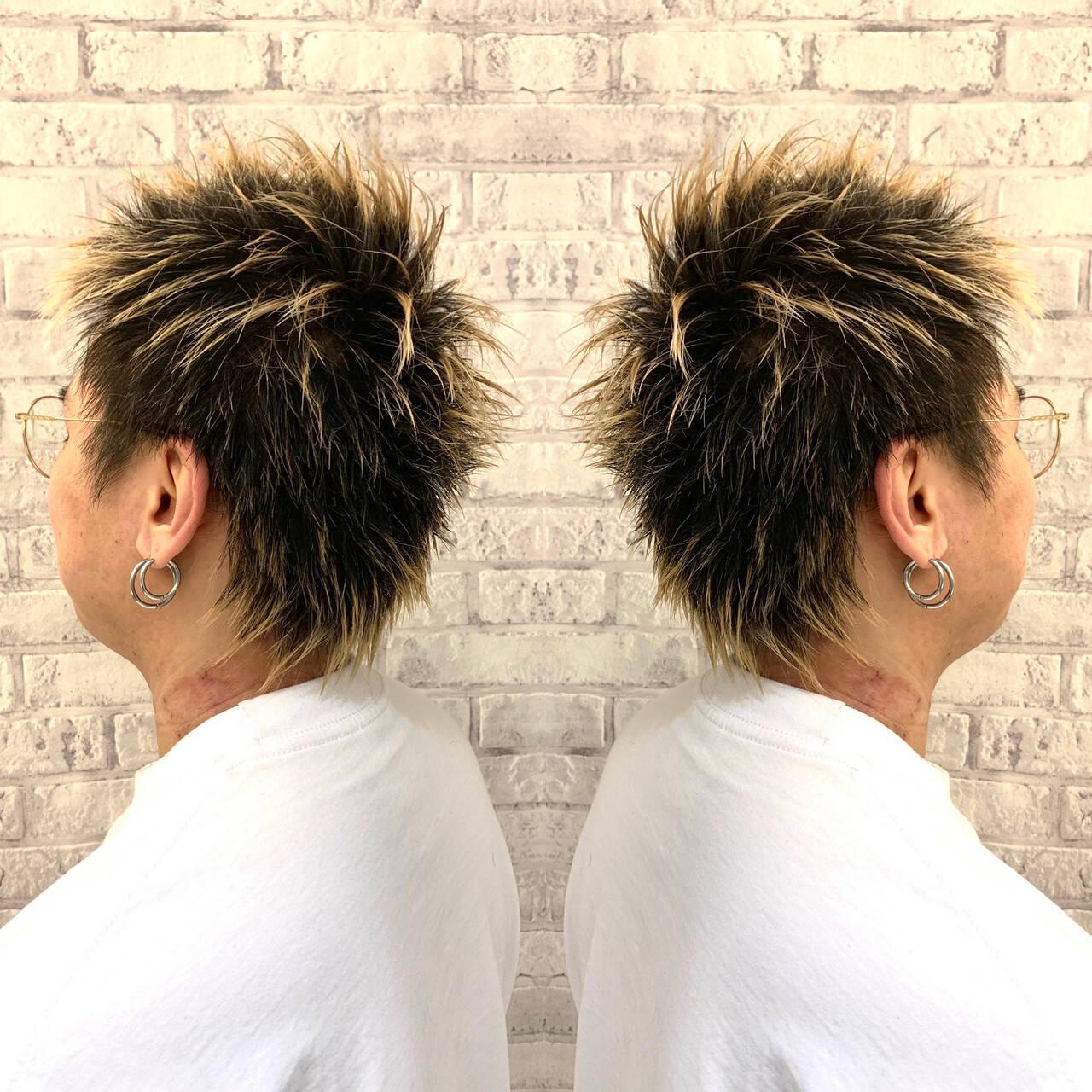 大人ハイライト ホワイトグラデーション 3Dハイライト グラデーションカラーヘアスタイルや髪型の写真・画像