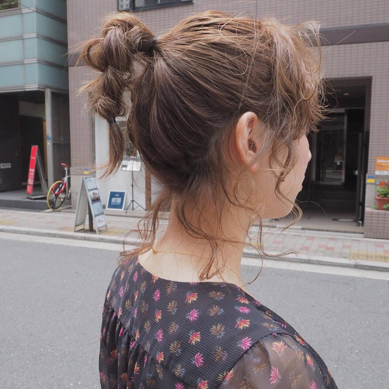 デート 女子会 ヘアアレンジ 簡単ヘアアレンジヘアスタイルや髪型の写真・画像