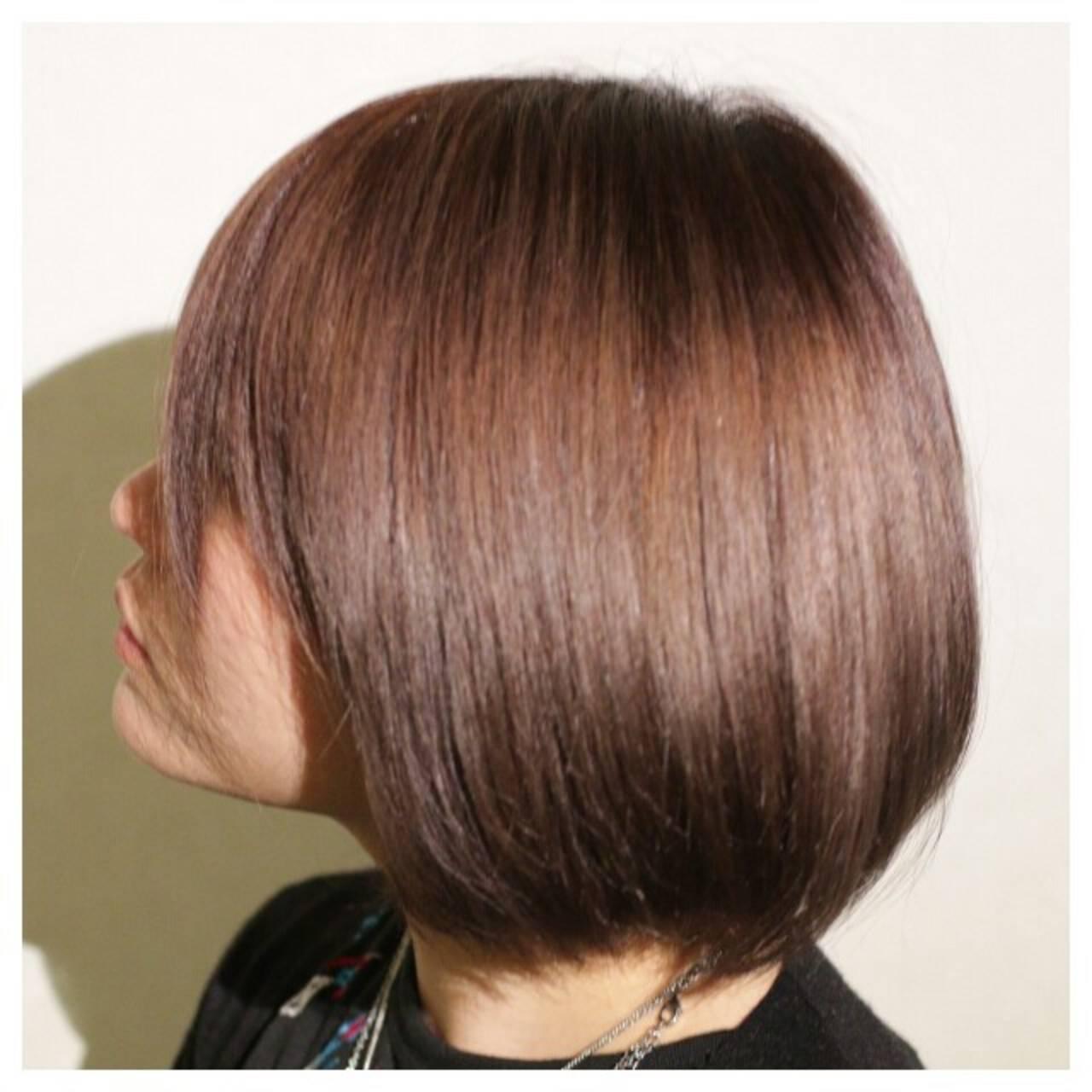 アッシュ ストレート 縮毛矯正 大人かわいいヘアスタイルや髪型の写真・画像