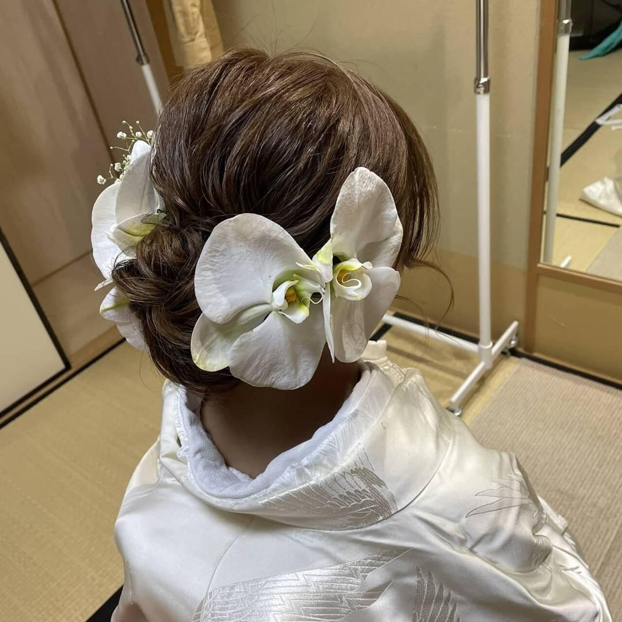 ヘアアレンジ 和装ヘア エレガント 和装髪型ヘアスタイルや髪型の写真・画像