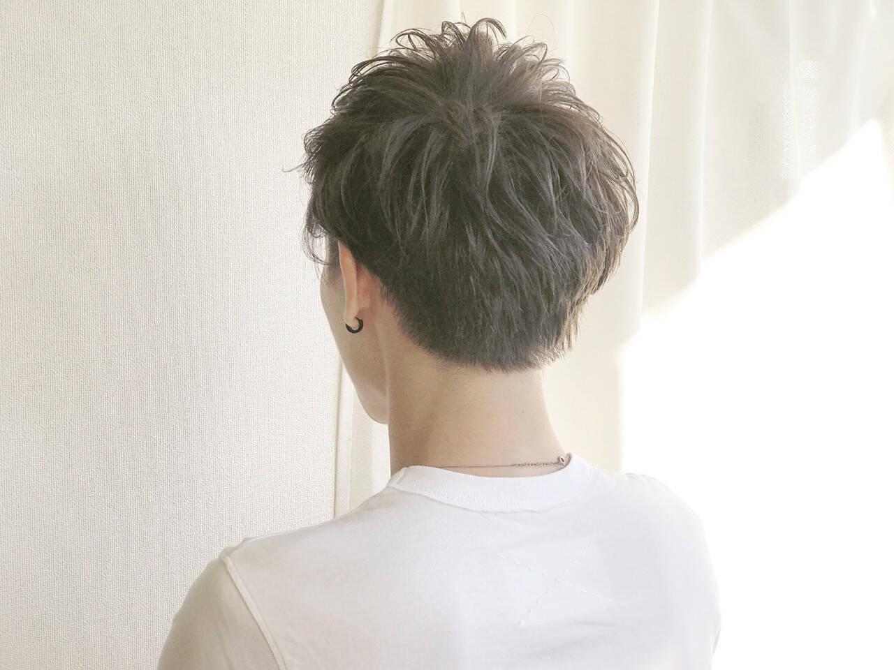 ボーイッシュ マッシュ 無造作 外国人風カラーヘアスタイルや髪型の写真・画像