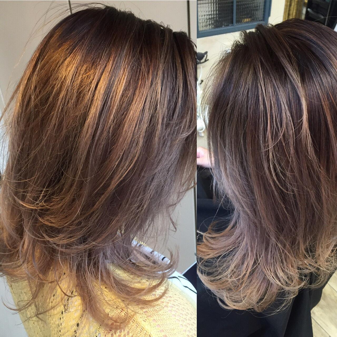 ガーリー ハイライト 外国人風 グラデーションカラーヘアスタイルや髪型の写真・画像