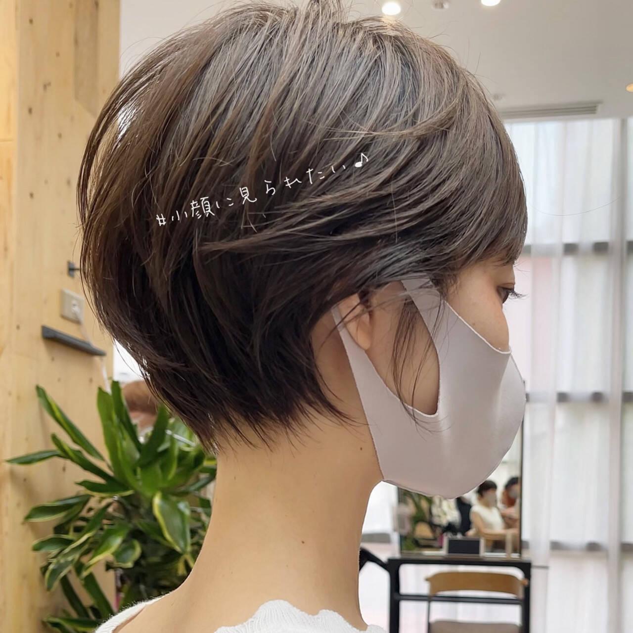 ショートボブ ミニボブ ベリーショート ショートヘアスタイルや髪型の写真・画像