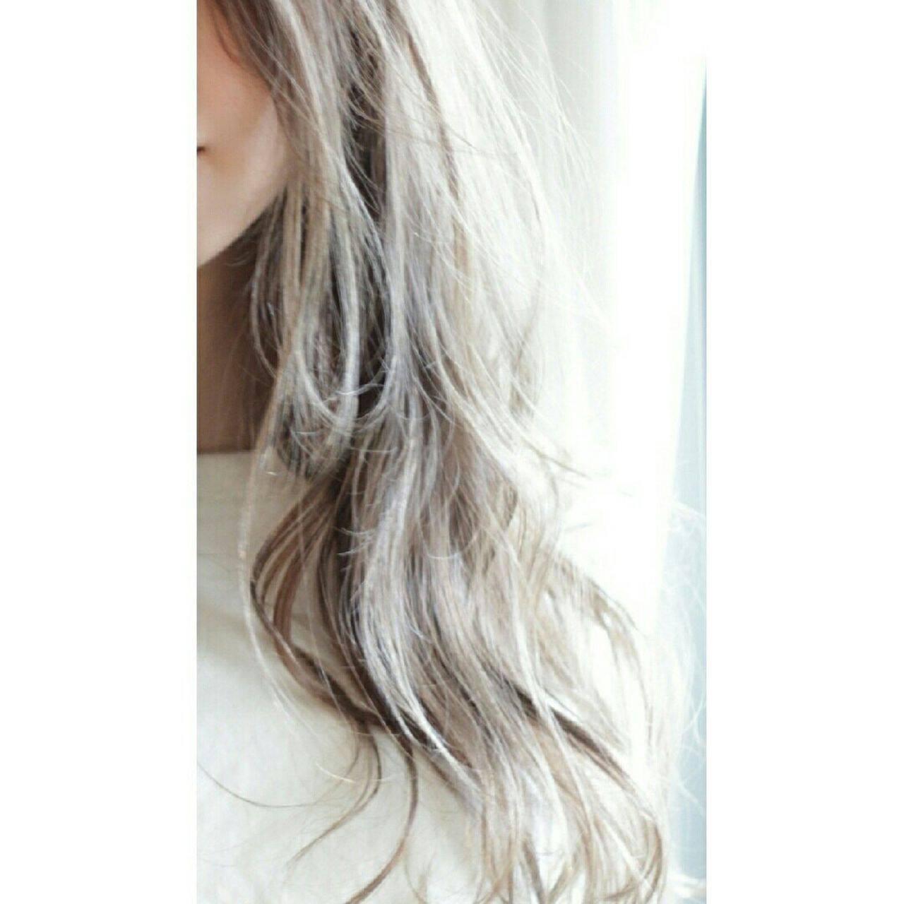 グラデーションカラー ストリート 外国人風 ブラウンベージュヘアスタイルや髪型の写真・画像