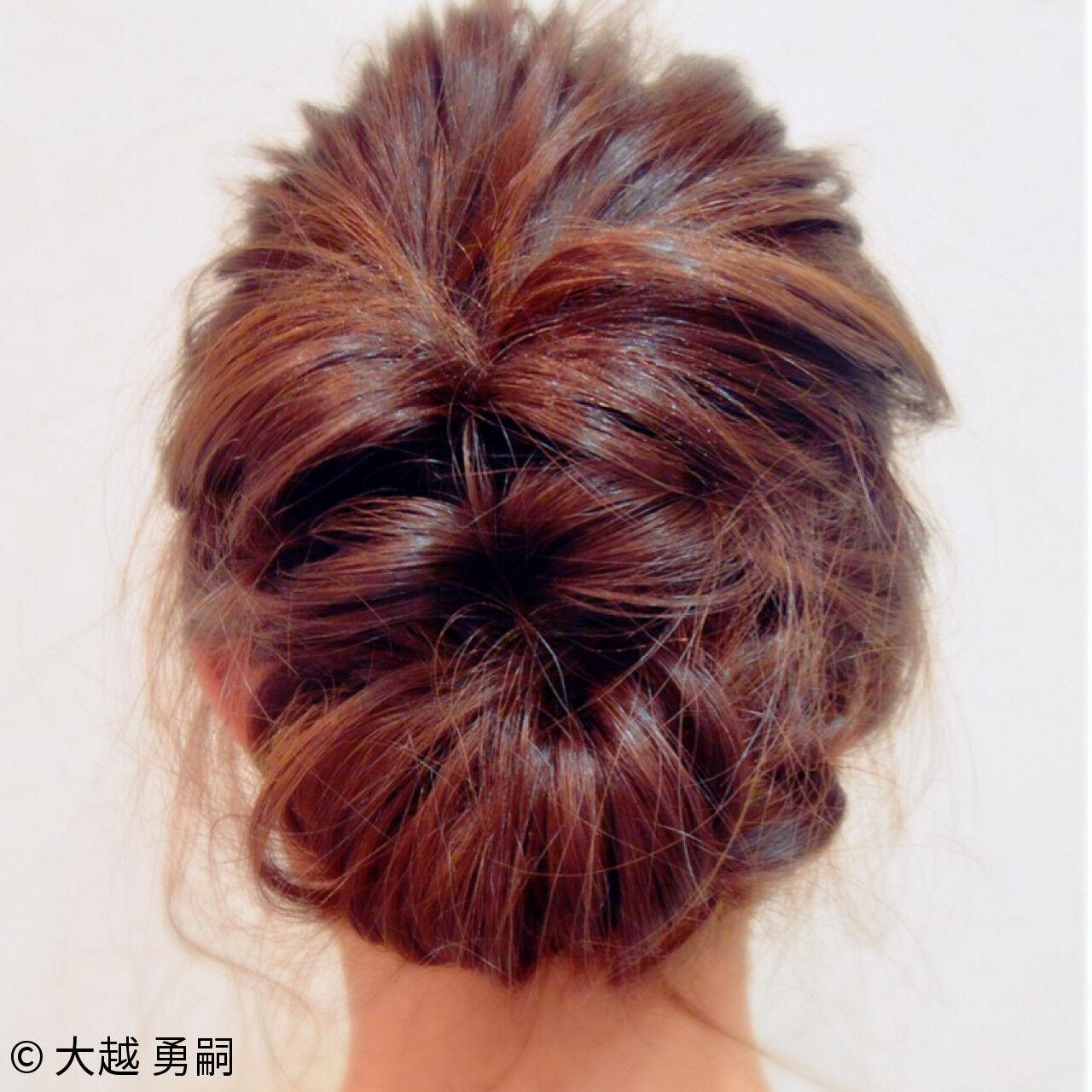 ヘアアレンジ 編み込み 大人女子 くるりんぱヘアスタイルや髪型の写真・画像