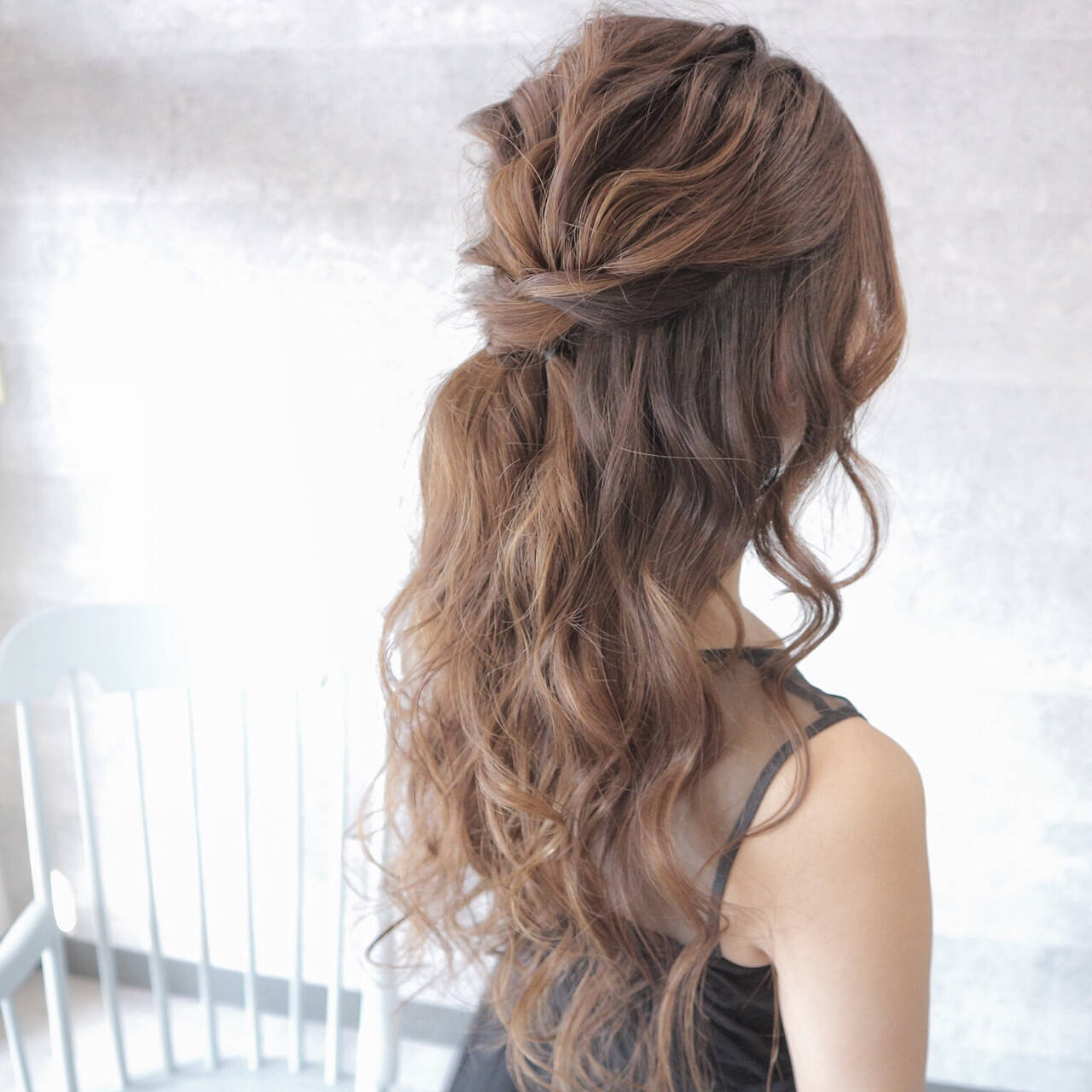 パーティ デート ロング 結婚式ヘアスタイルや髪型の写真・画像