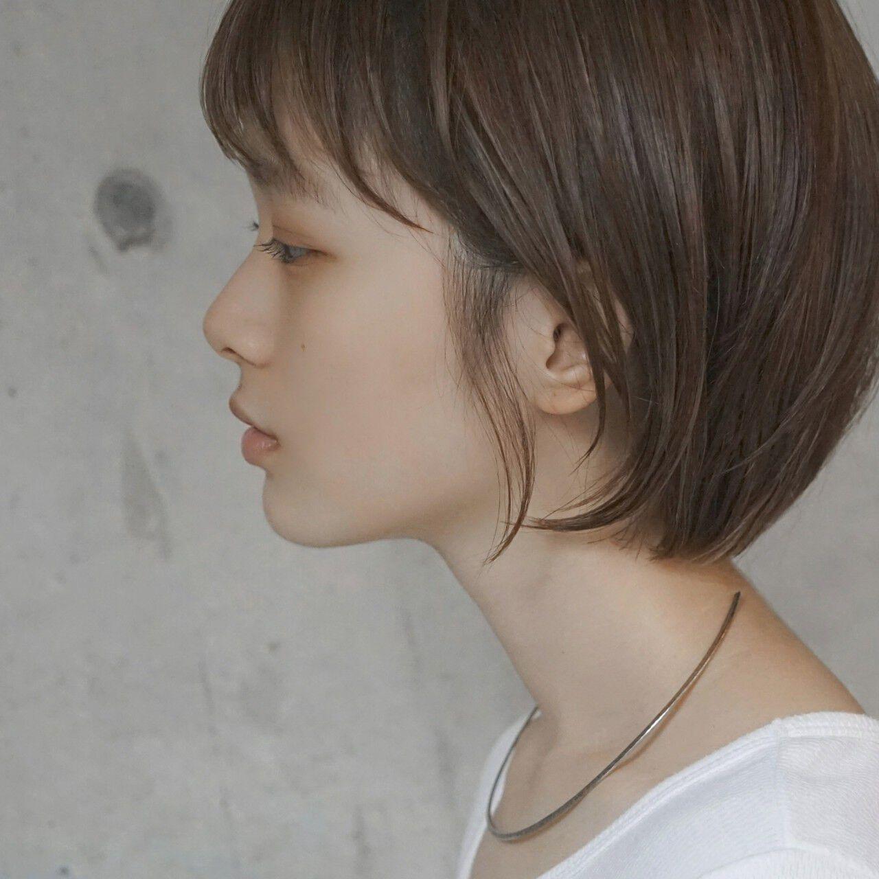ナチュラル デート ショートボブ ショートヘアスタイルや髪型の写真・画像