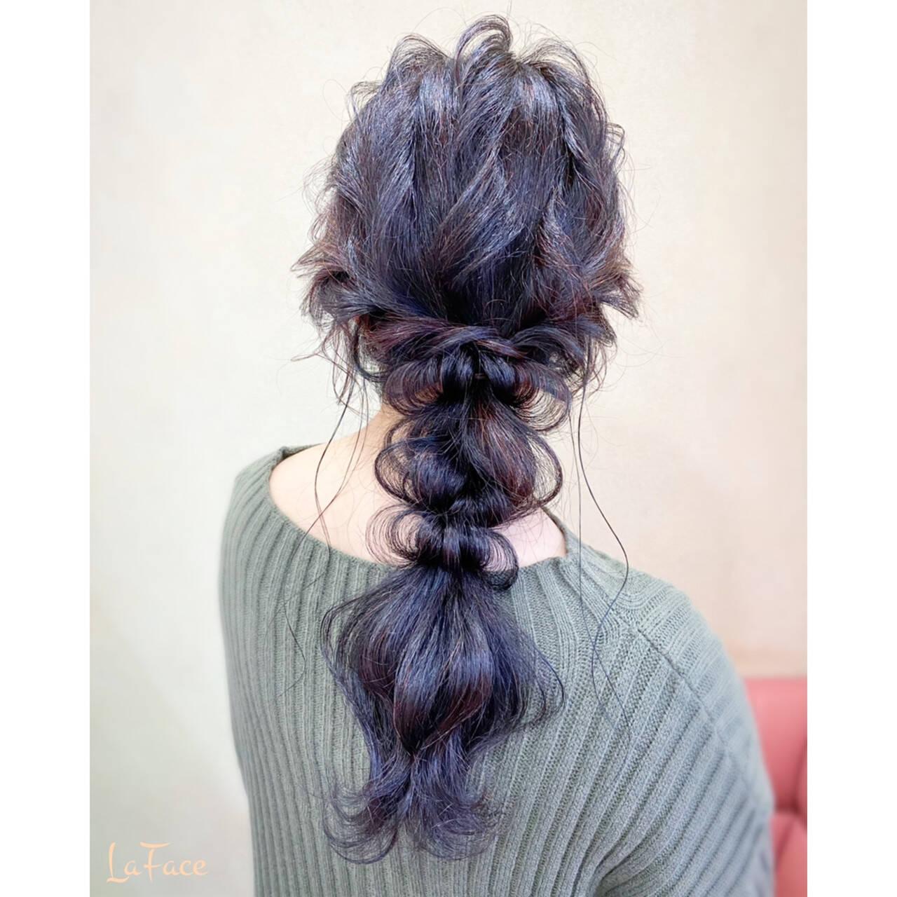 ロング 編みおろし パーティ エレガントヘアスタイルや髪型の写真・画像
