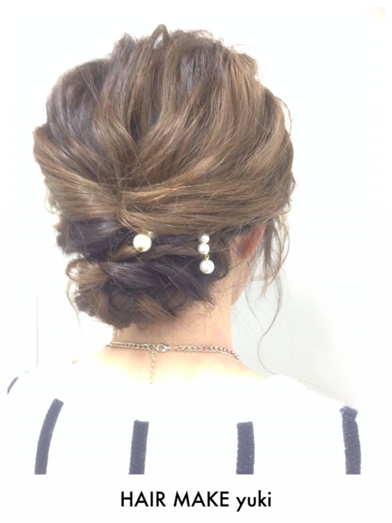 ショート ルーズ ゆるふわ モテ髪ヘアスタイルや髪型の写真・画像