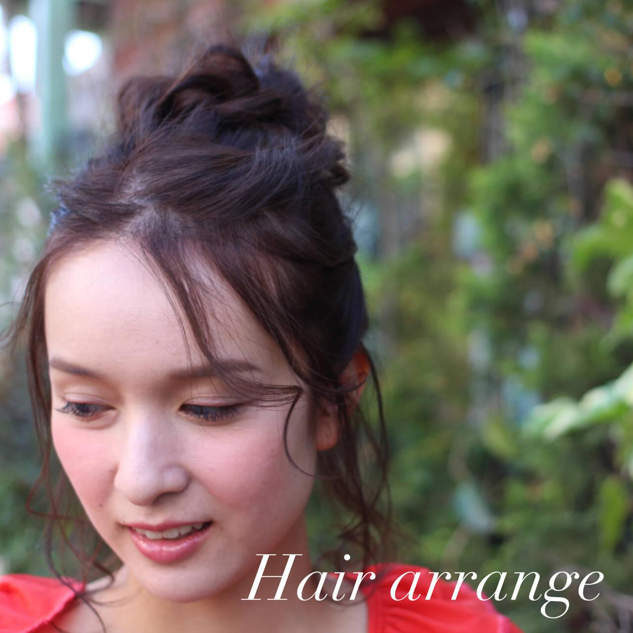 前髪あり ミルクティー ロング ハーフアップヘアスタイルや髪型の写真・画像