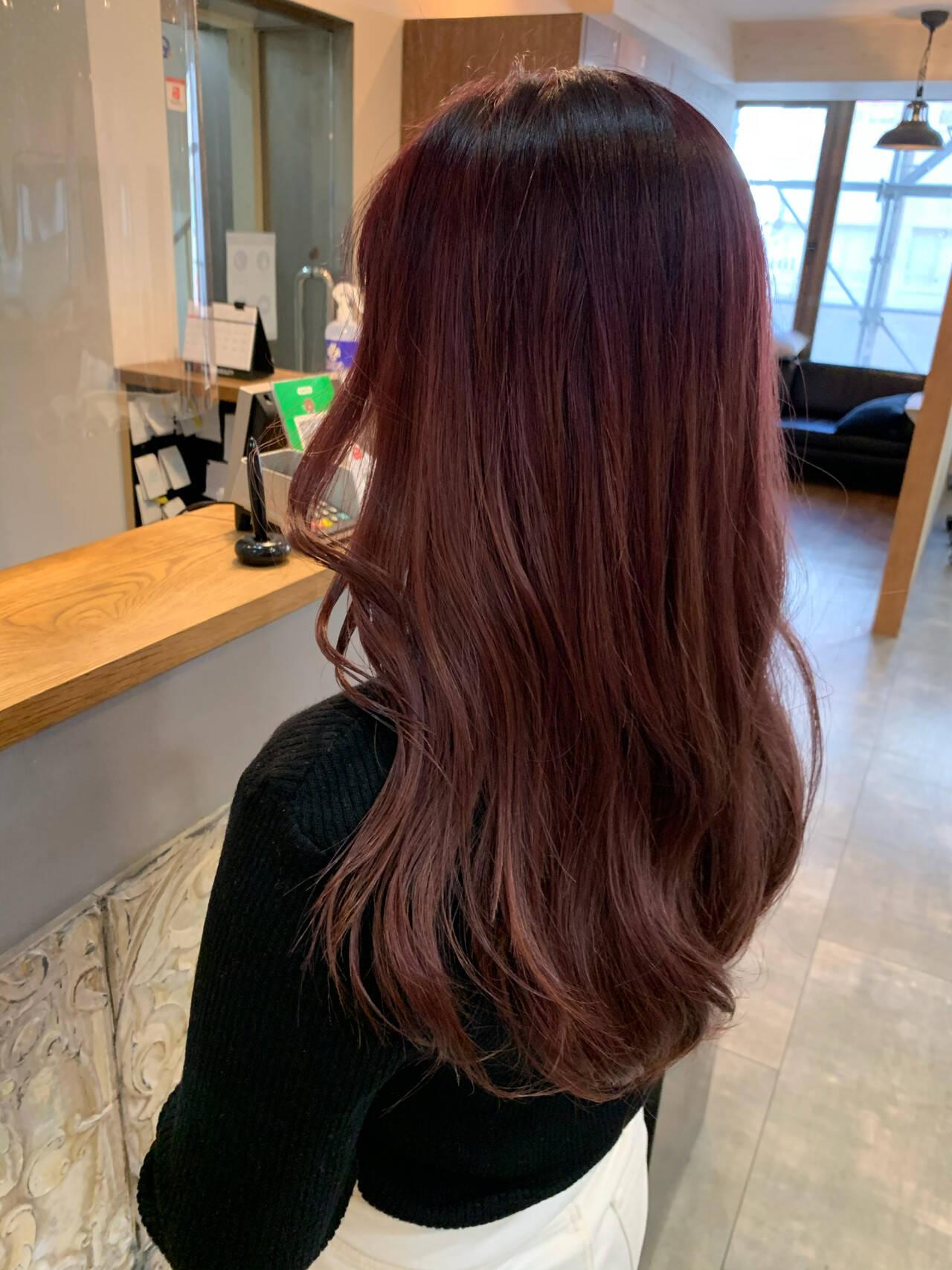 ダブルカラー ベリーピンク ブリーチ必須 韓国ヘアヘアスタイルや髪型の写真・画像