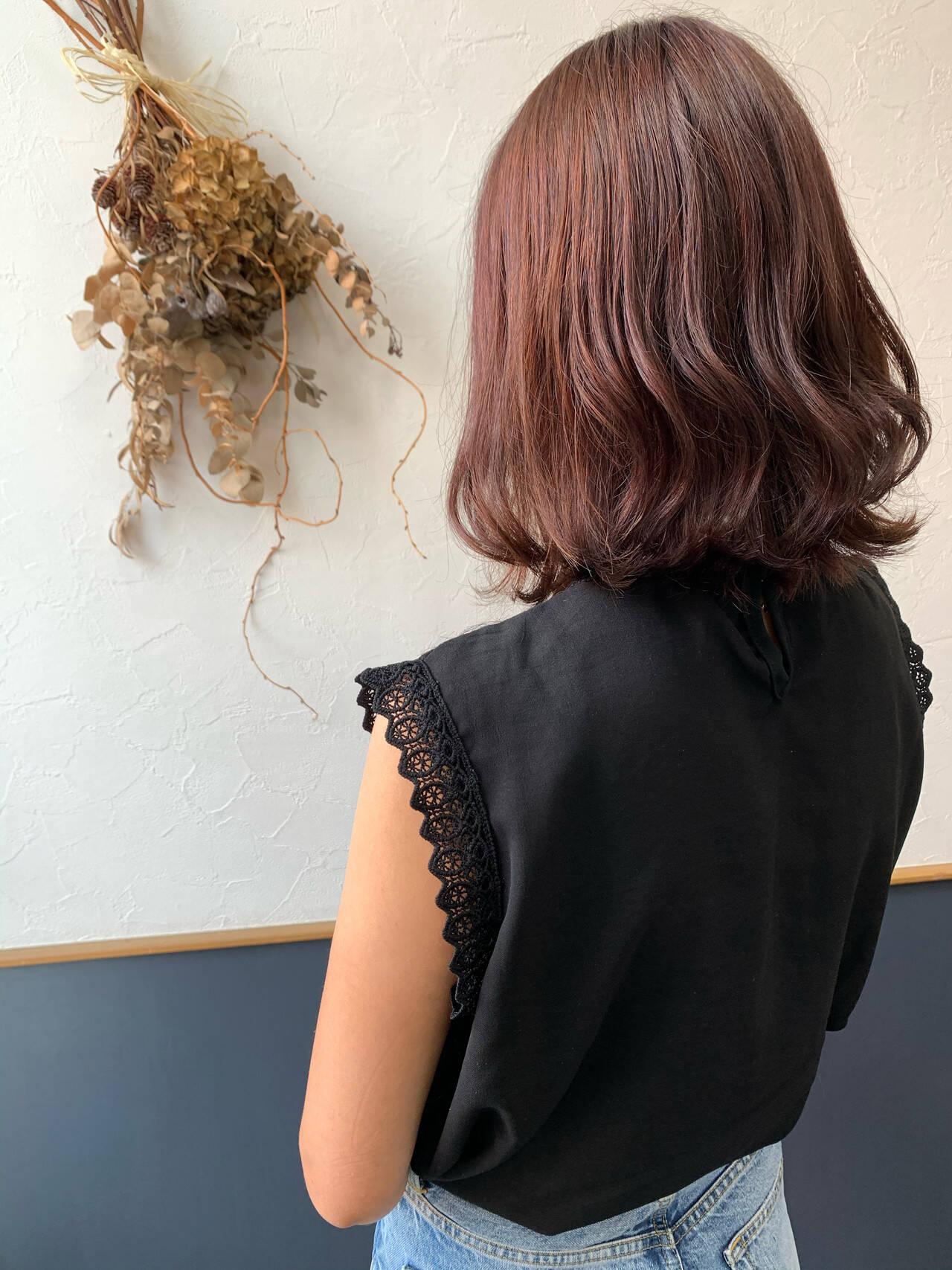 エレガント ピンクラベンダー ピンクパープル ピンクバイオレットヘアスタイルや髪型の写真・画像