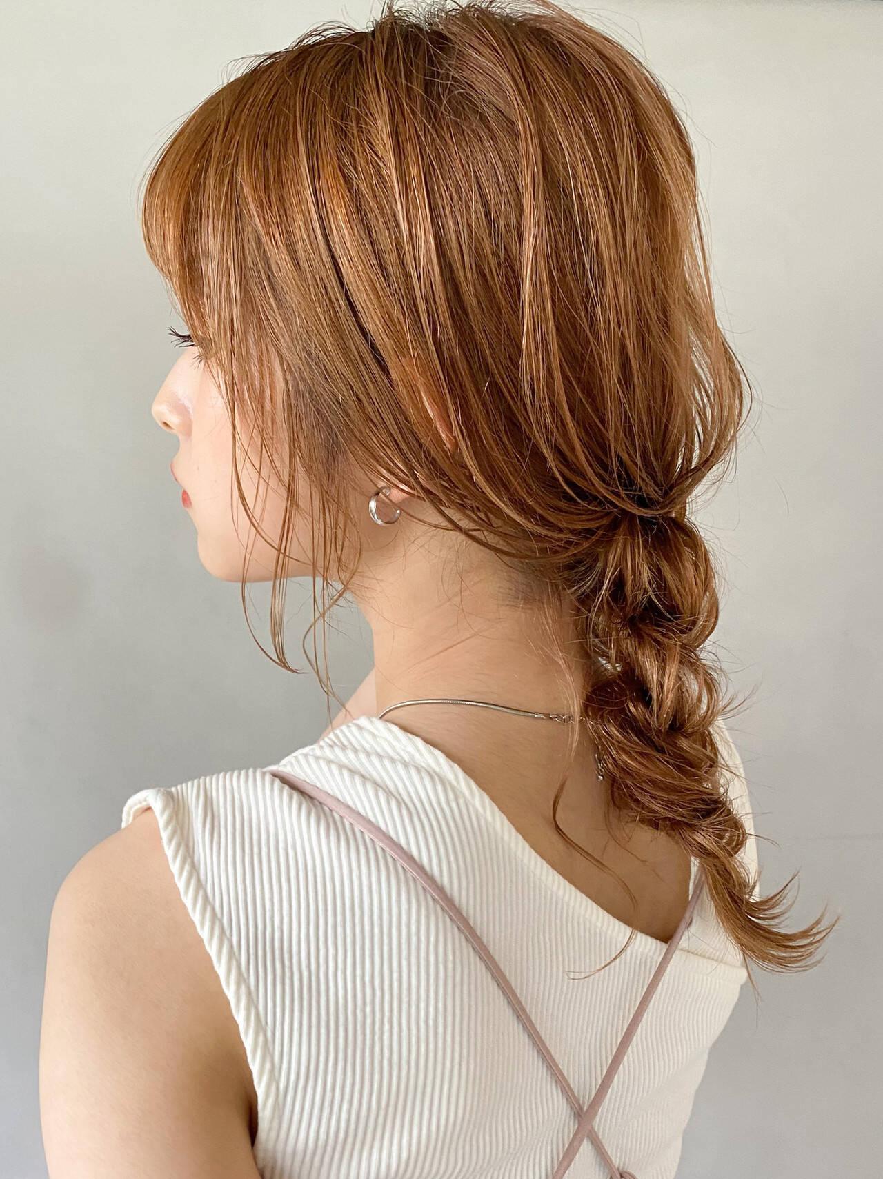 外国人風 ナチュラルベージュ 透明感カラー アンニュイほつれヘアヘアスタイルや髪型の写真・画像