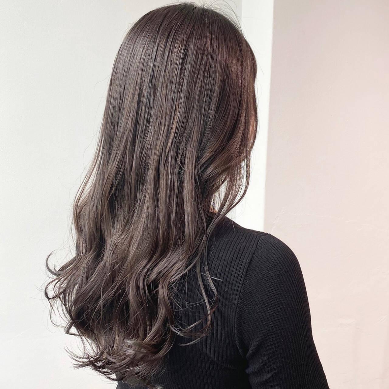 ナチュラル 暗髪 ナチュラルブラウンカラー 初カラーヘアスタイルや髪型の写真・画像