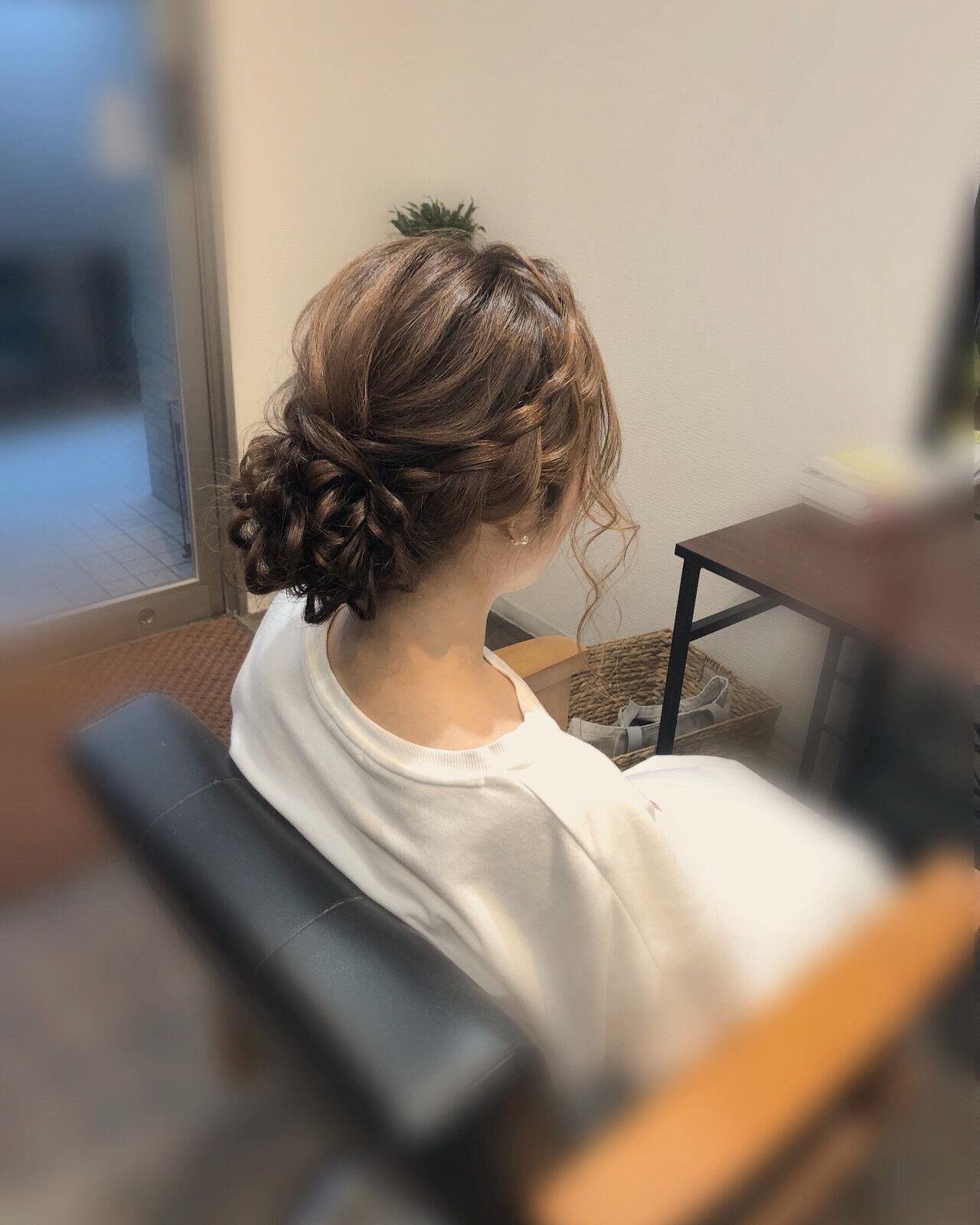 ロング 浴衣ヘア アップスタイル フェミニンヘアスタイルや髪型の写真・画像