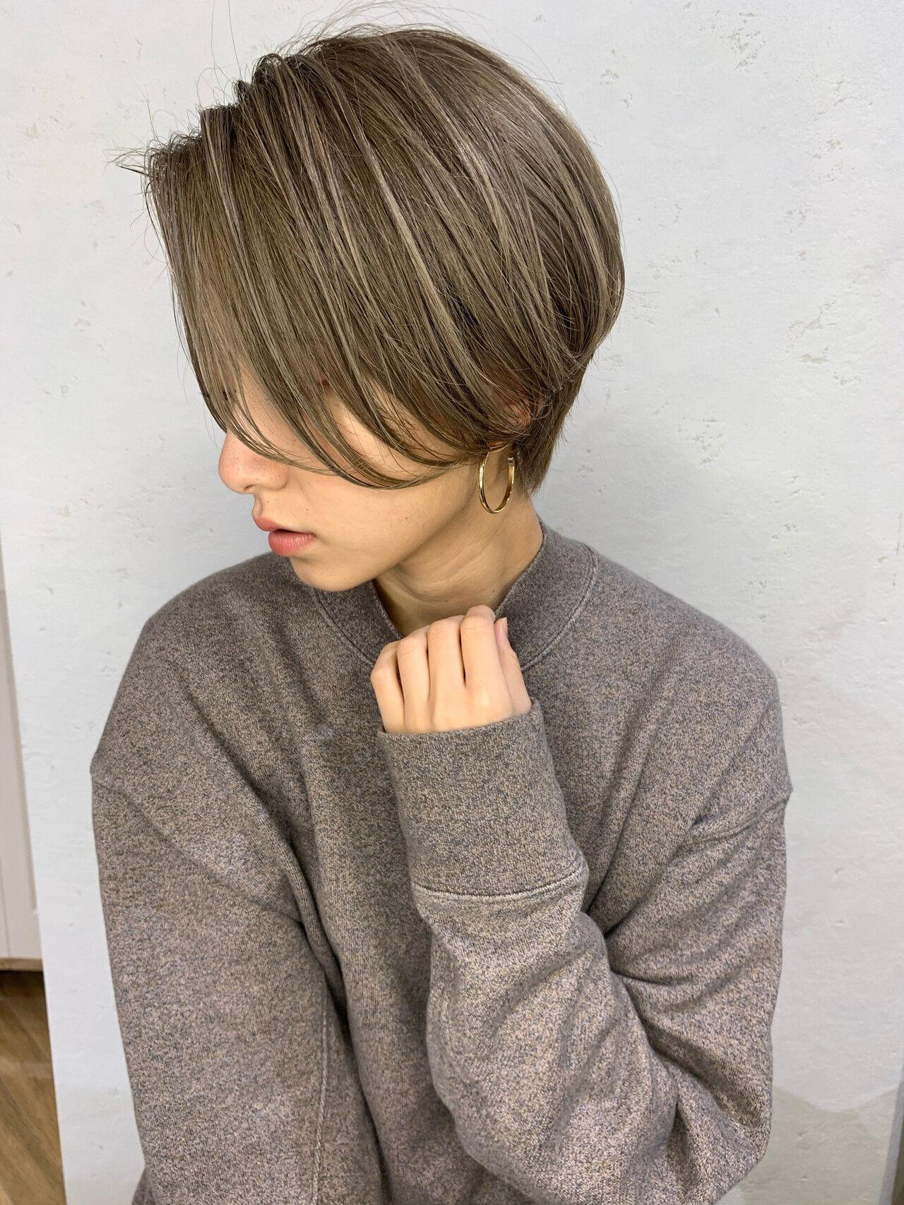 小顔ヘア ナチュラル 大人可愛いヘアスタイルや髪型の写真・画像