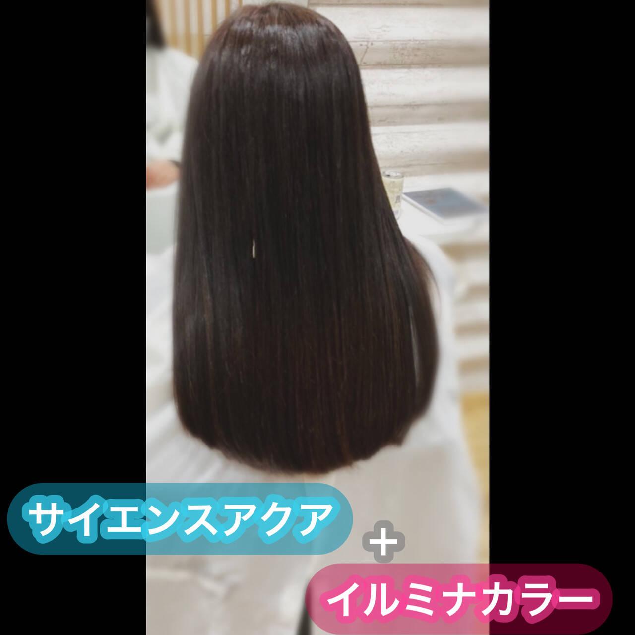 髪質改善 ナチュラル 髪質改善トリートメント 大人ロングヘアスタイルや髪型の写真・画像