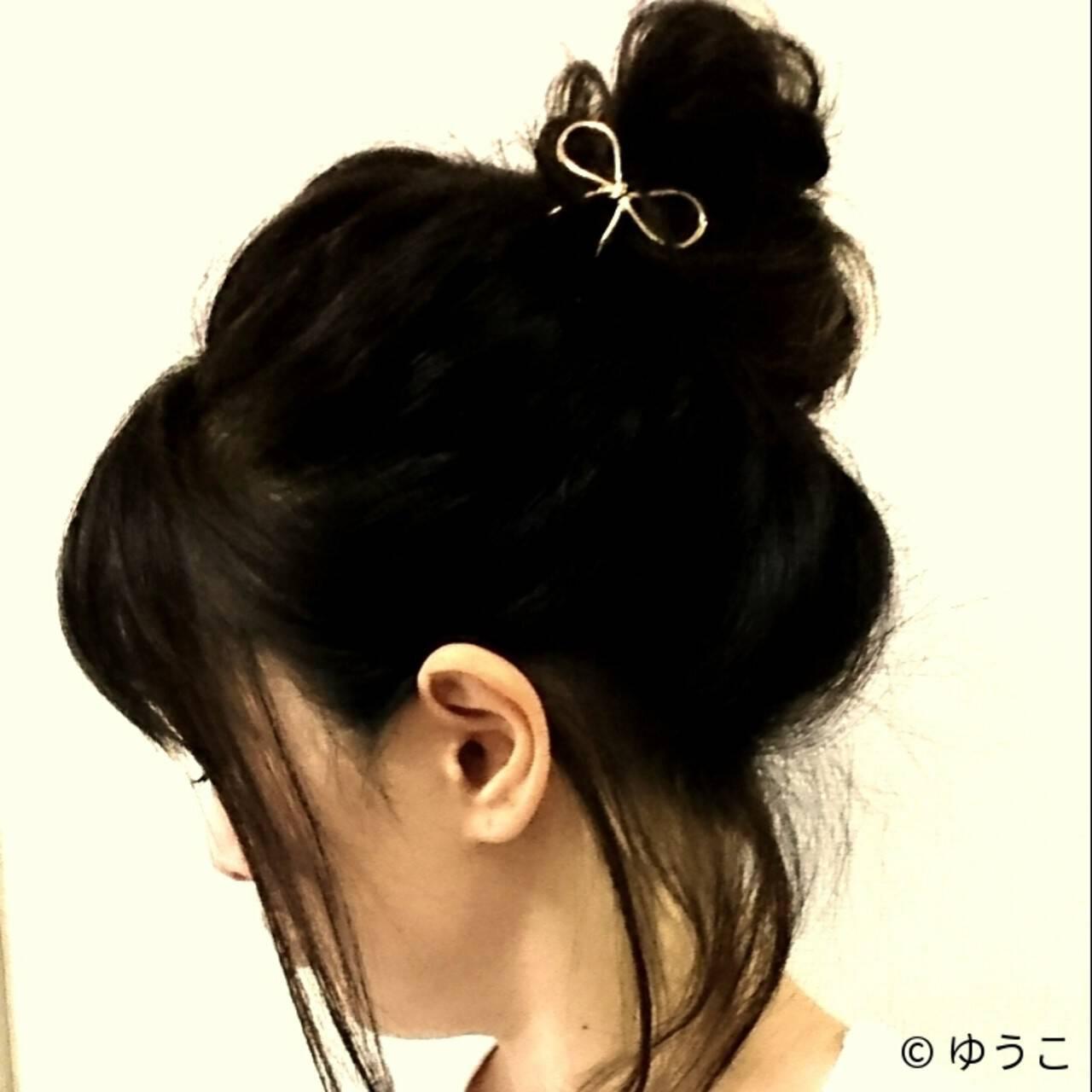 ショート 簡単ヘアアレンジ ボブ ヘアアレンジヘアスタイルや髪型の写真・画像