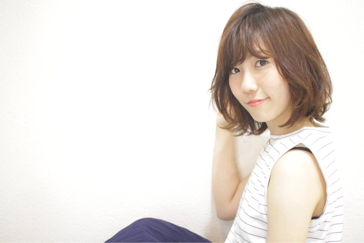 前髪あり ゆるふわ 抜け感 ナチュラルヘアスタイルや髪型の写真・画像
