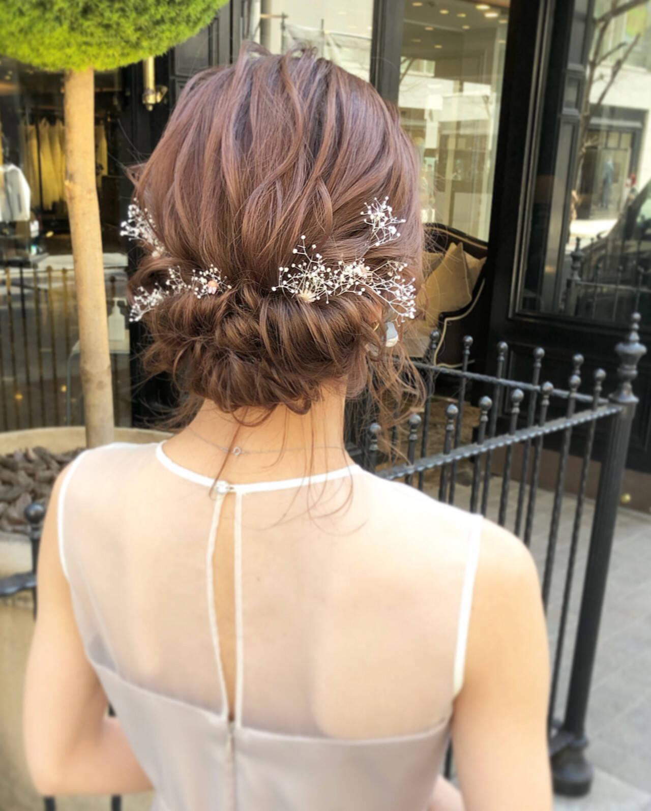 エレガント 大人可愛い ミディアム 福岡市ヘアスタイルや髪型の写真・画像