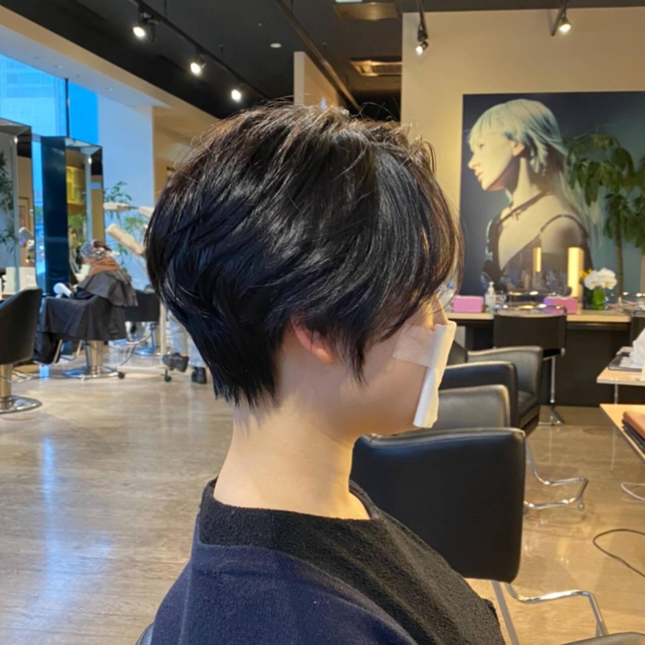ウザバング 抜け感 アンニュイほつれヘア ハンサムショートヘアスタイルや髪型の写真・画像