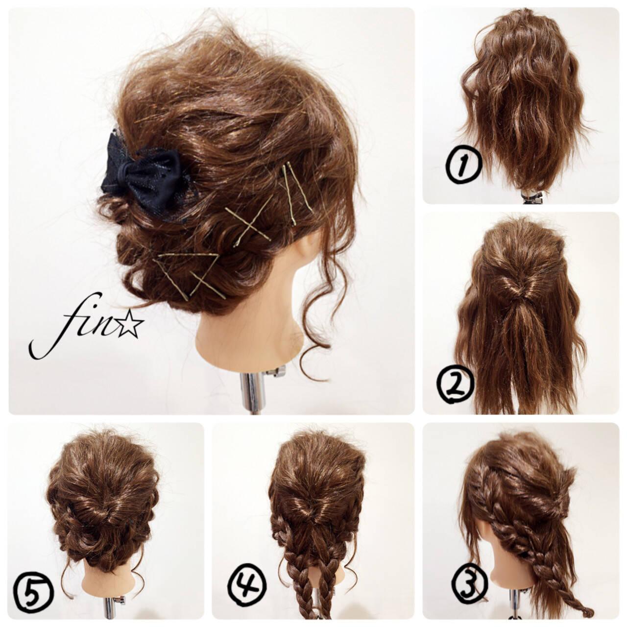ヘアアレンジ 簡単ヘアアレンジ セミロング 大人かわいいヘアスタイルや髪型の写真・画像