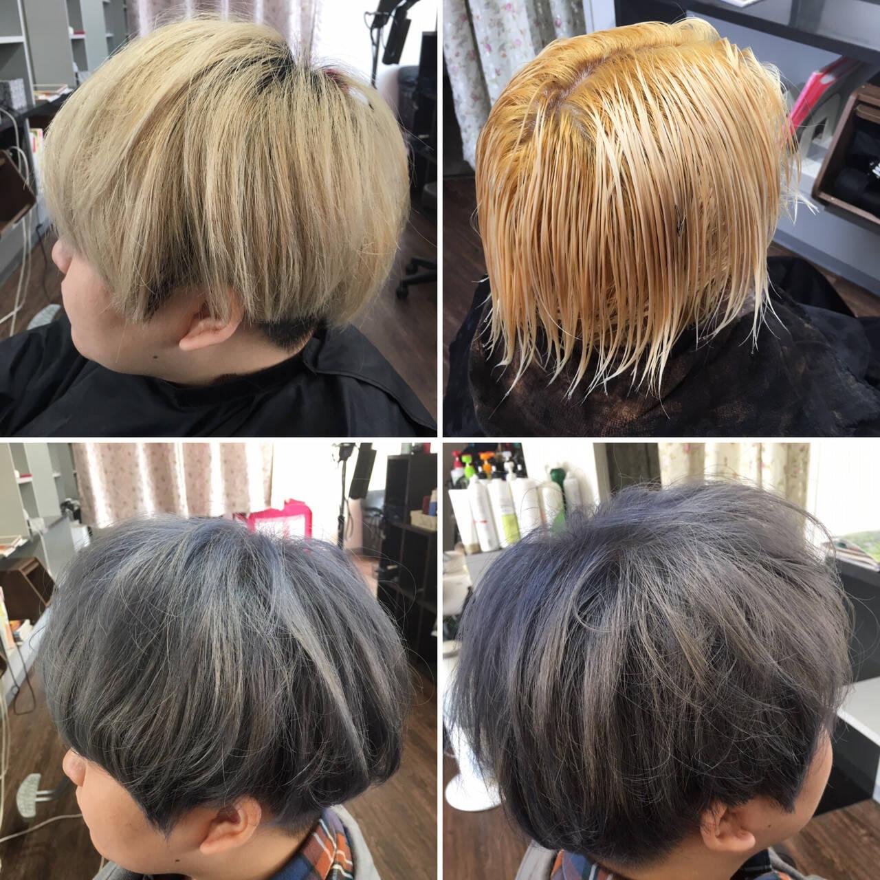 ブリーチ 外国人風カラー ストリート 外国人風ヘアスタイルや髪型の写真・画像