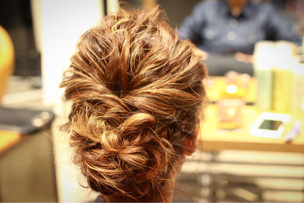 簡単ヘアアレンジ ショート ヘアアレンジ 編み込みヘアスタイルや髪型の写真・画像