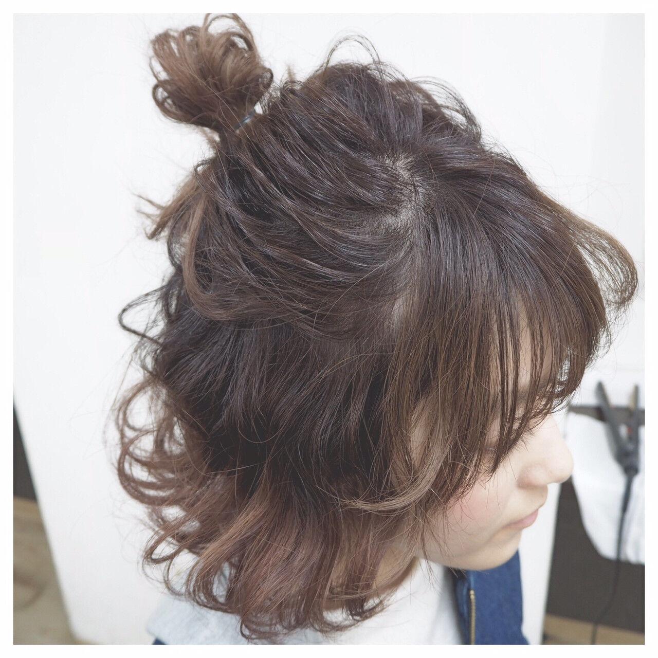 ヘアアレンジ ボブ ショート モテ髪ヘアスタイルや髪型の写真・画像