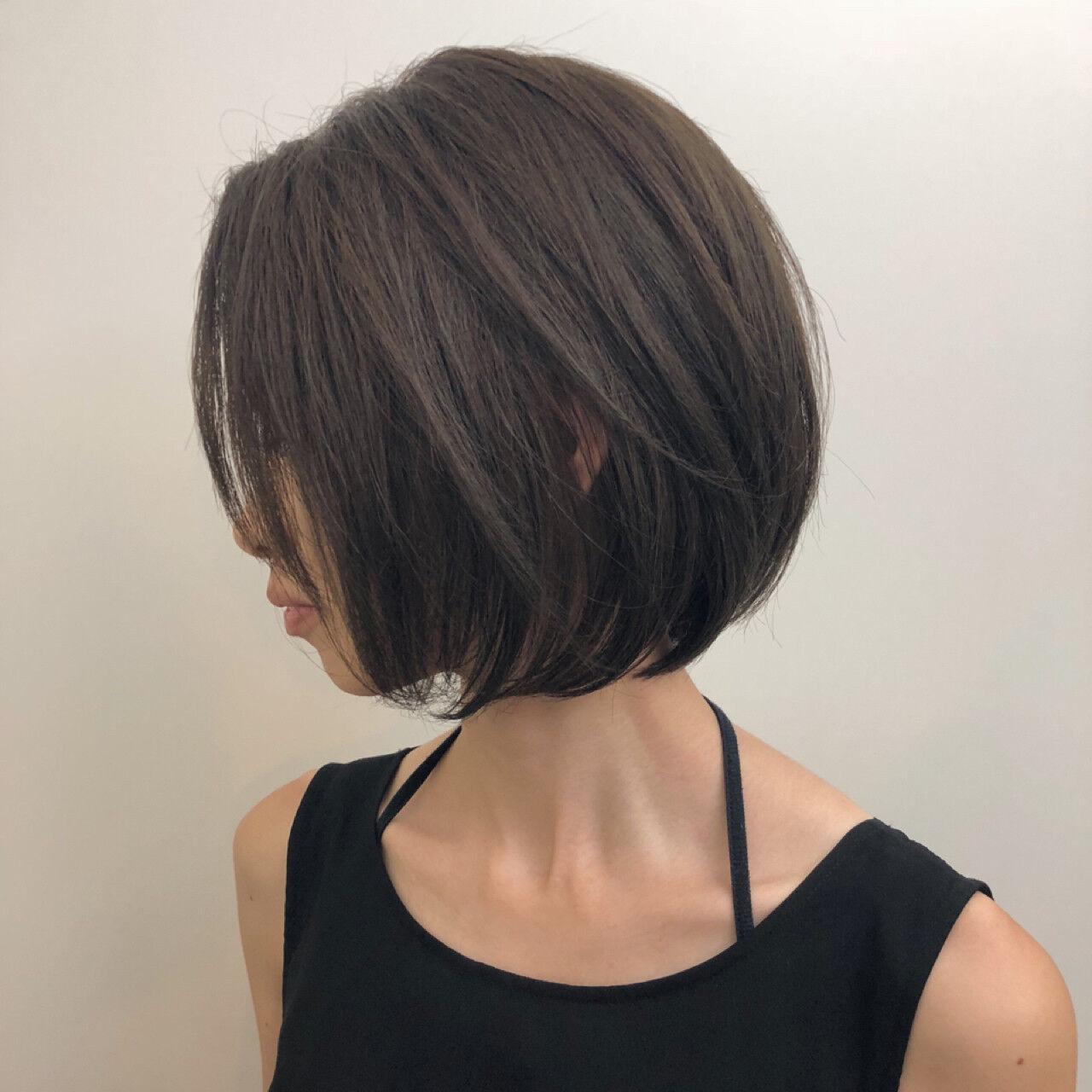 ボブ ショートボブ 大人女子 ショートヘアスタイルや髪型の写真・画像