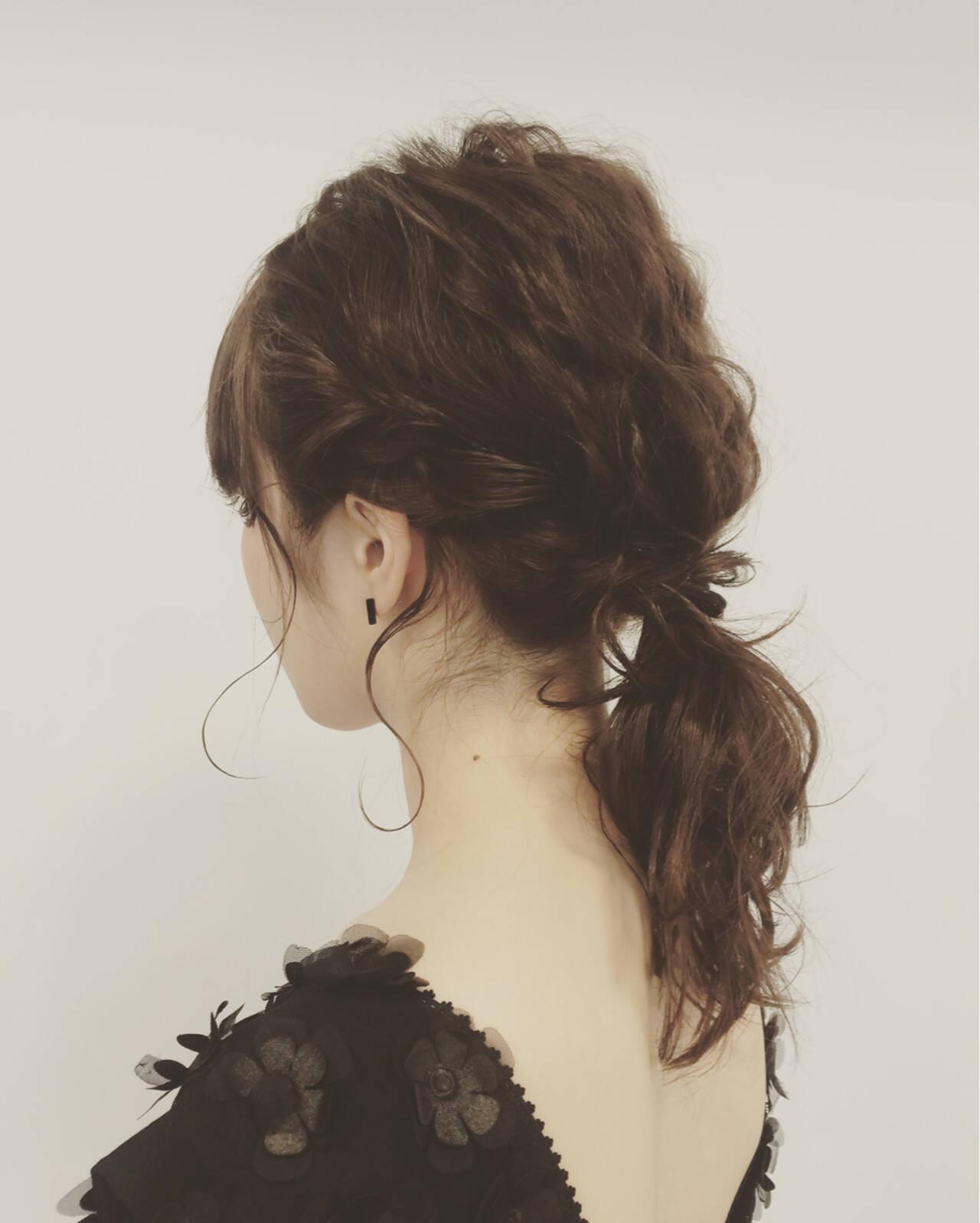 ゆるふわ 波ウェーブ ミディアム ショートヘアスタイルや髪型の写真・画像