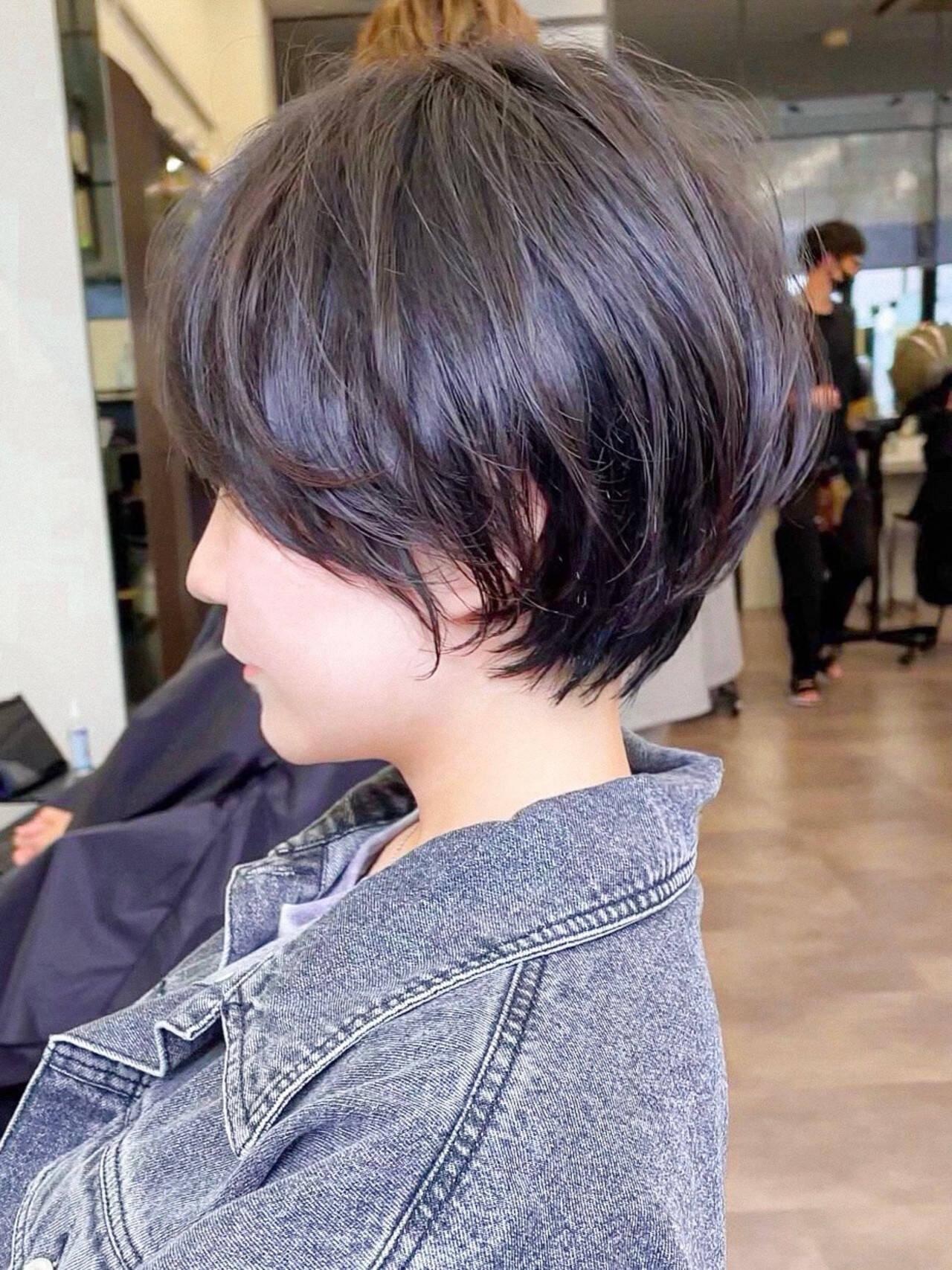ナチュラル アンニュイほつれヘア ハンサムショート ショートヘアスタイルや髪型の写真・画像