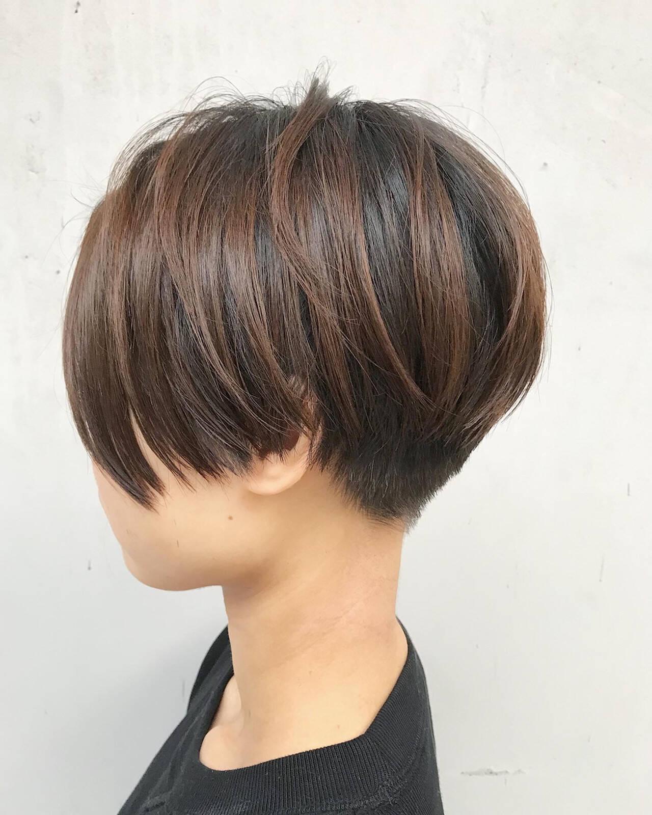 ベリーショート 小顔ショート 刈り上げ 刈り上げショートヘアスタイルや髪型の写真・画像