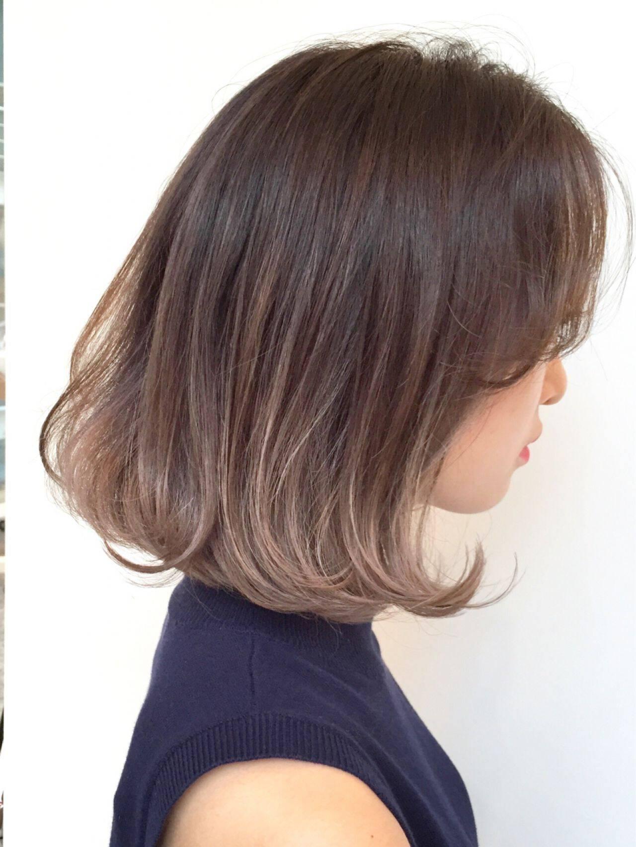 外国人風 外国人風カラー グラデーションカラー ハイライトヘアスタイルや髪型の写真・画像