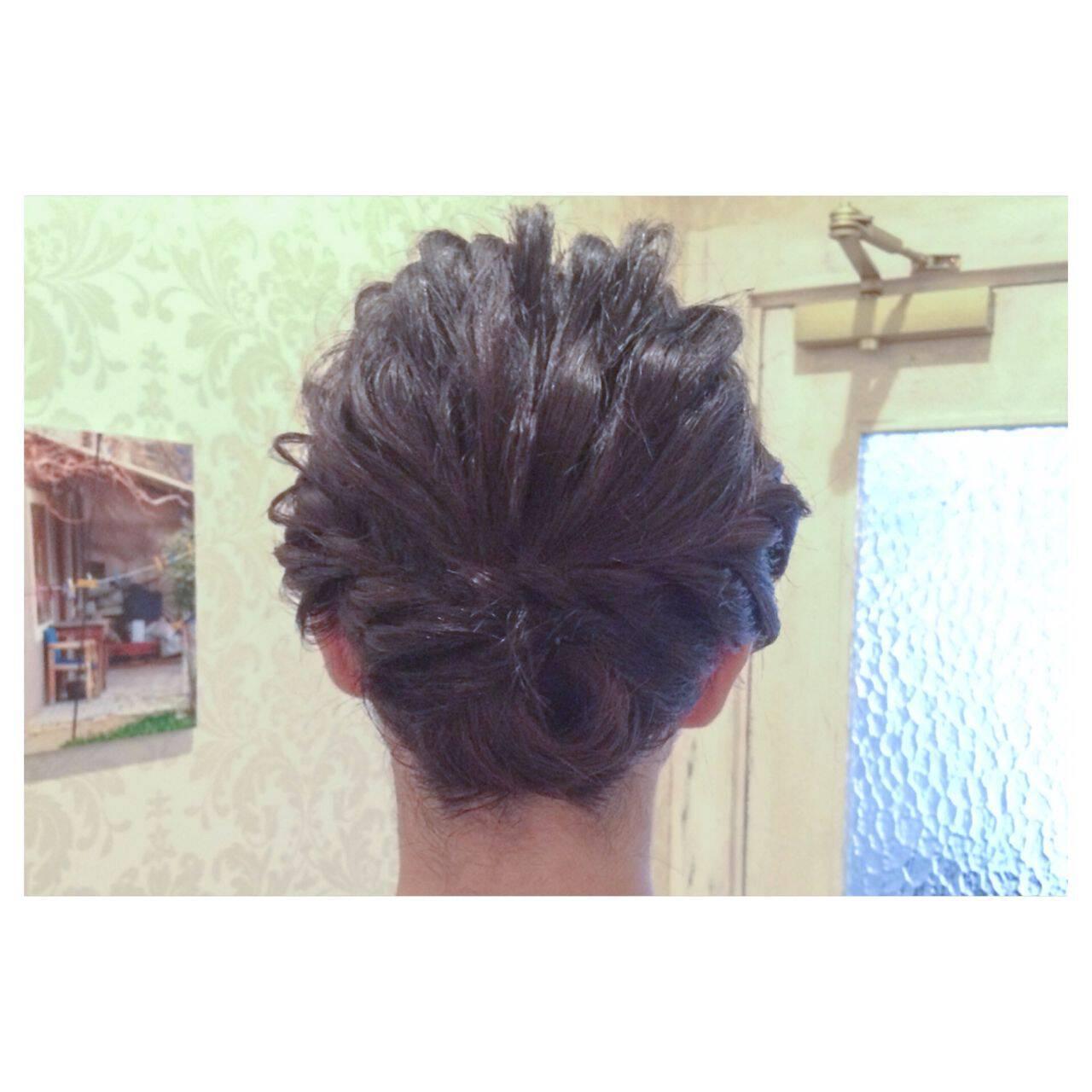 ショート ヘアアレンジヘアスタイルや髪型の写真・画像