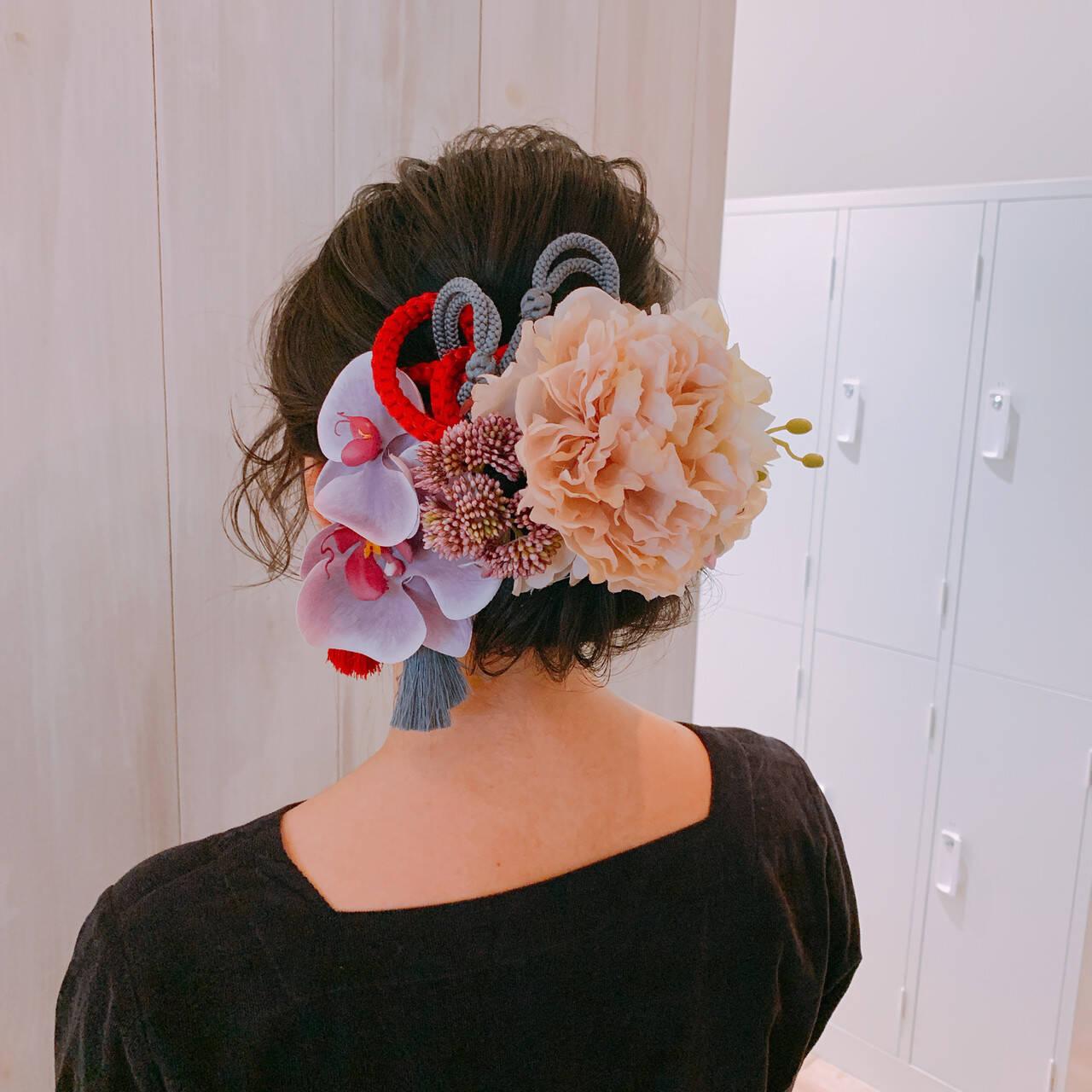 ナチュラル 結婚式ヘアアレンジ 卒業式 ヘアアレンジヘアスタイルや髪型の写真・画像
