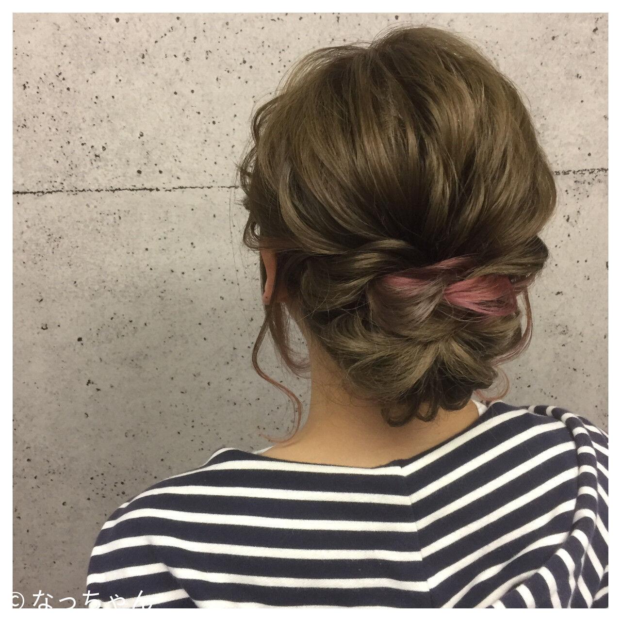 ブライダル ボブ ピンク ヘアアレンジヘアスタイルや髪型の写真・画像